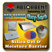 Absorbent Industries - Silica Gel Desiccant & Moisture Barrier Mylar Bags