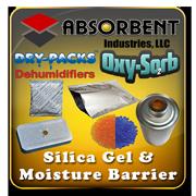 Absorbent Industries - Silica Gel Desiccant & Moisture Barrier Mylar Bags