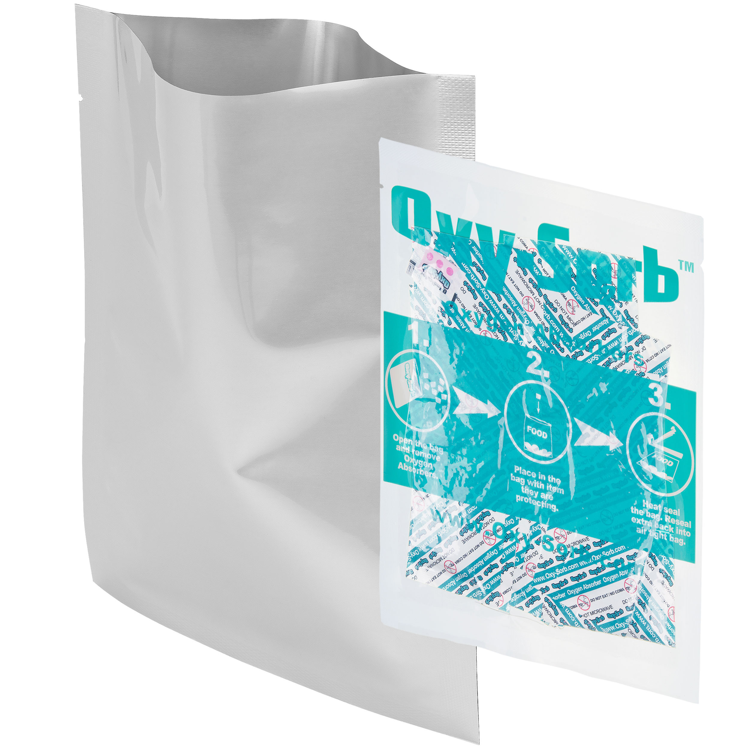 """Dry-Packs 5x7"""" 1-Pint Mylar Bags and 20CC Oxygen Absorbers, 200PK"""