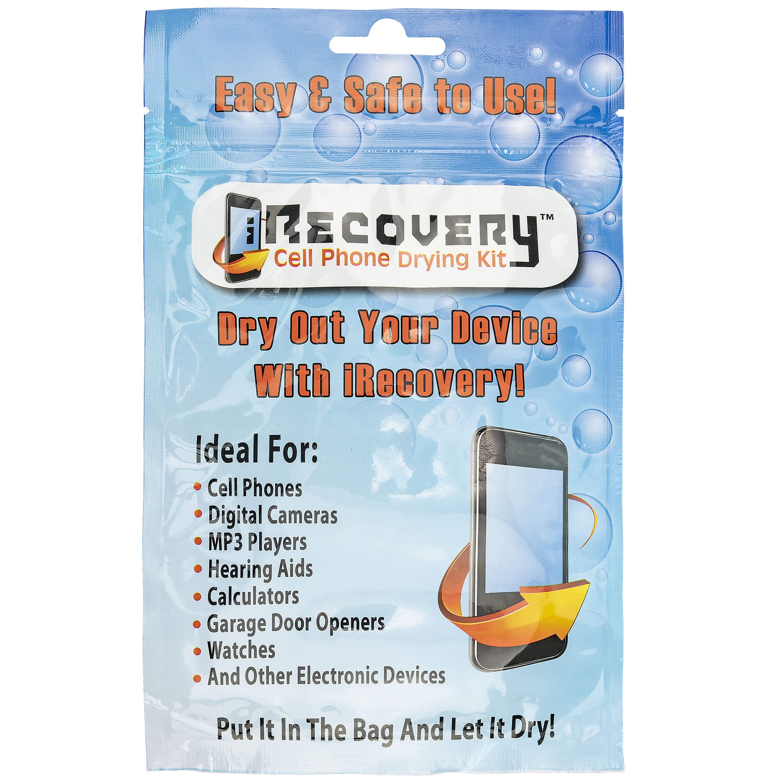 Dry-Packs iRecovery Cell Drying Kit-Save Your Phone, iPod and More