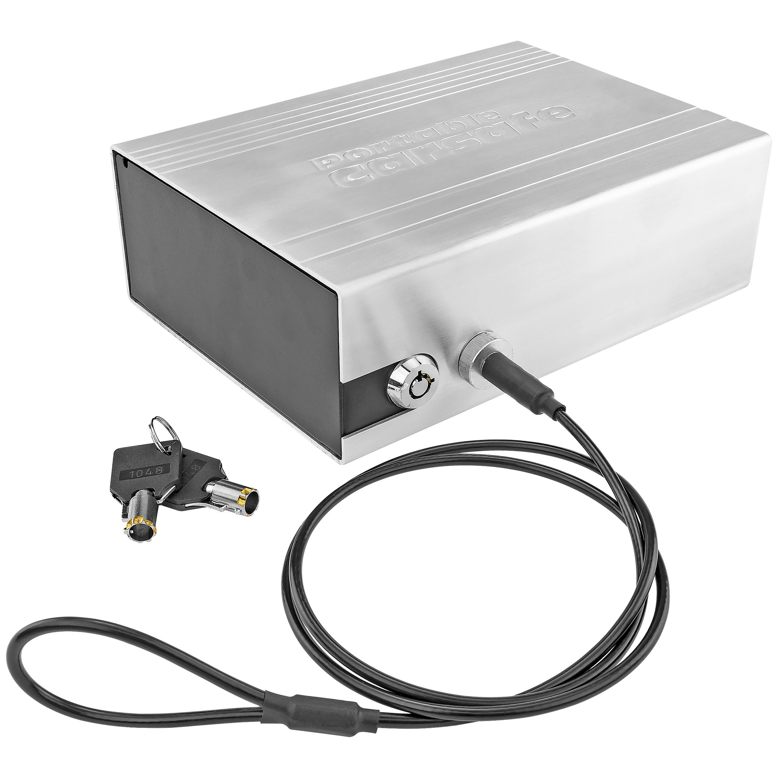 Southern Homewares Portable Handgun Safe, Silver - Aluminum & Steel Carrying Case for Car, Boat, Office, or Home
