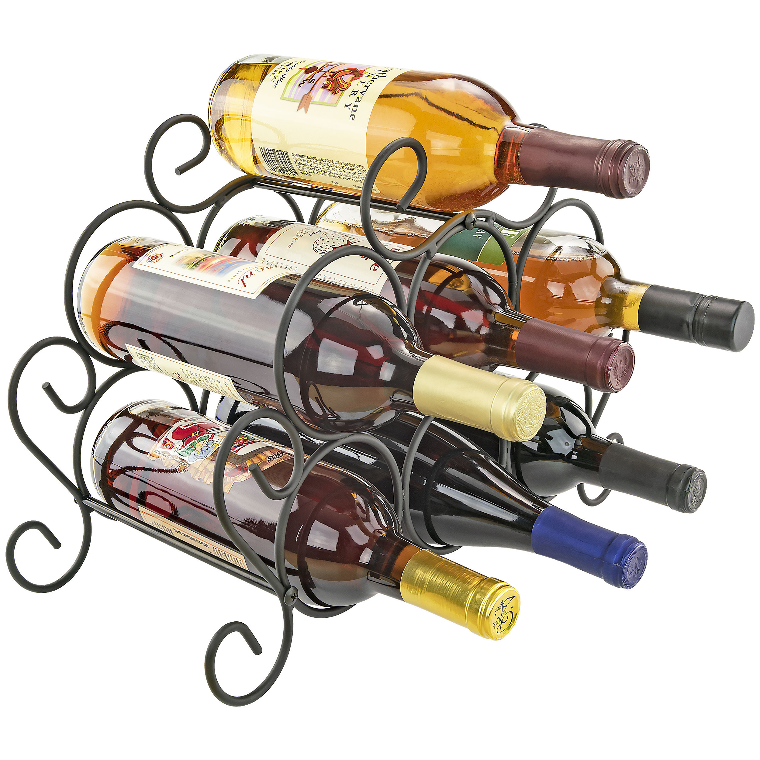 Southern Homewares 7-Bottle Minuet Wine Rack