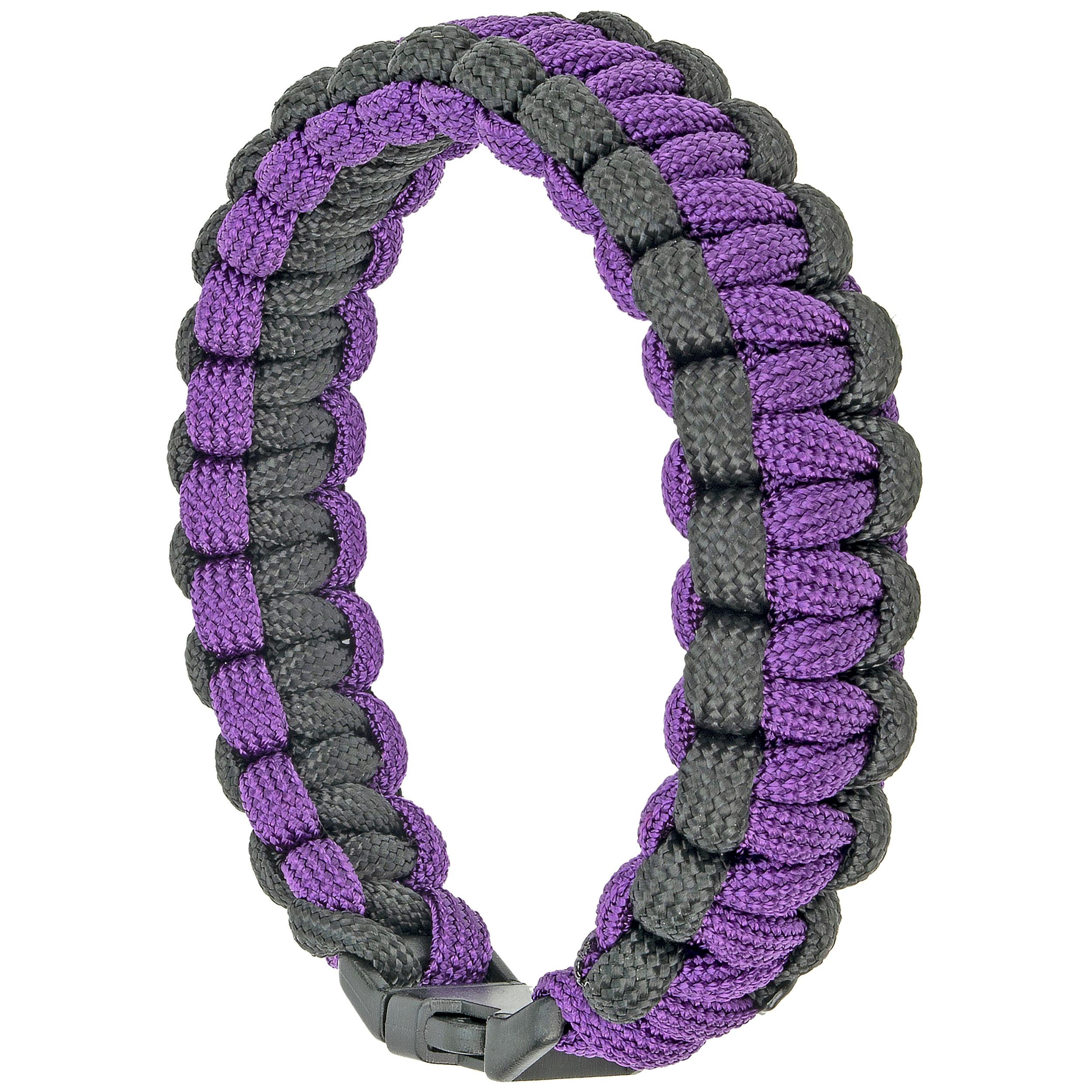 Southern Homewares Paracord Survival Bracelet, 8-Inch, Purple and Black