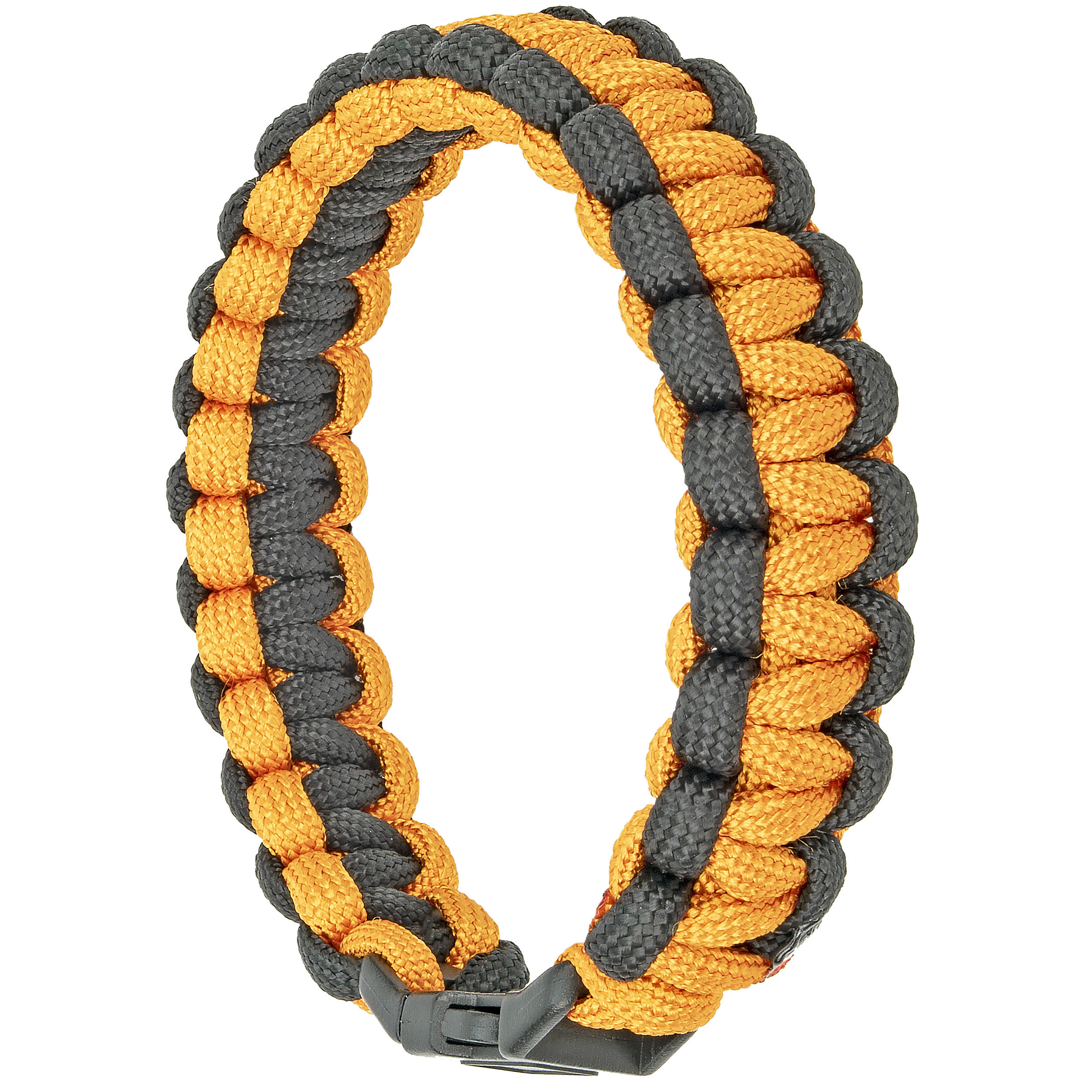 Southern Homewares Paracord Bracelet, 8-Inch, Orange and Black, Purple & Black