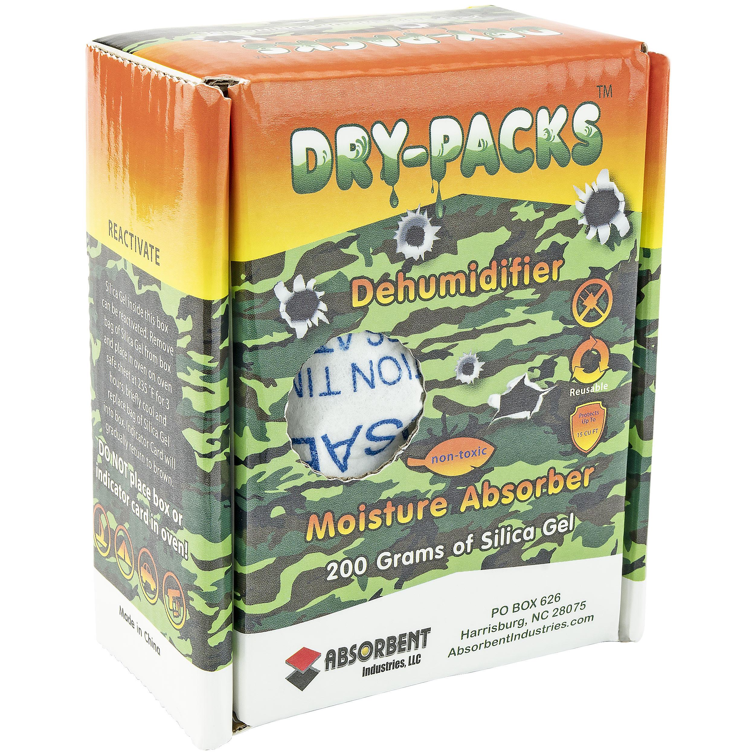 Dry-Packs Silica Gel Dehumidifying Camo Box, 200gm, Camouflage