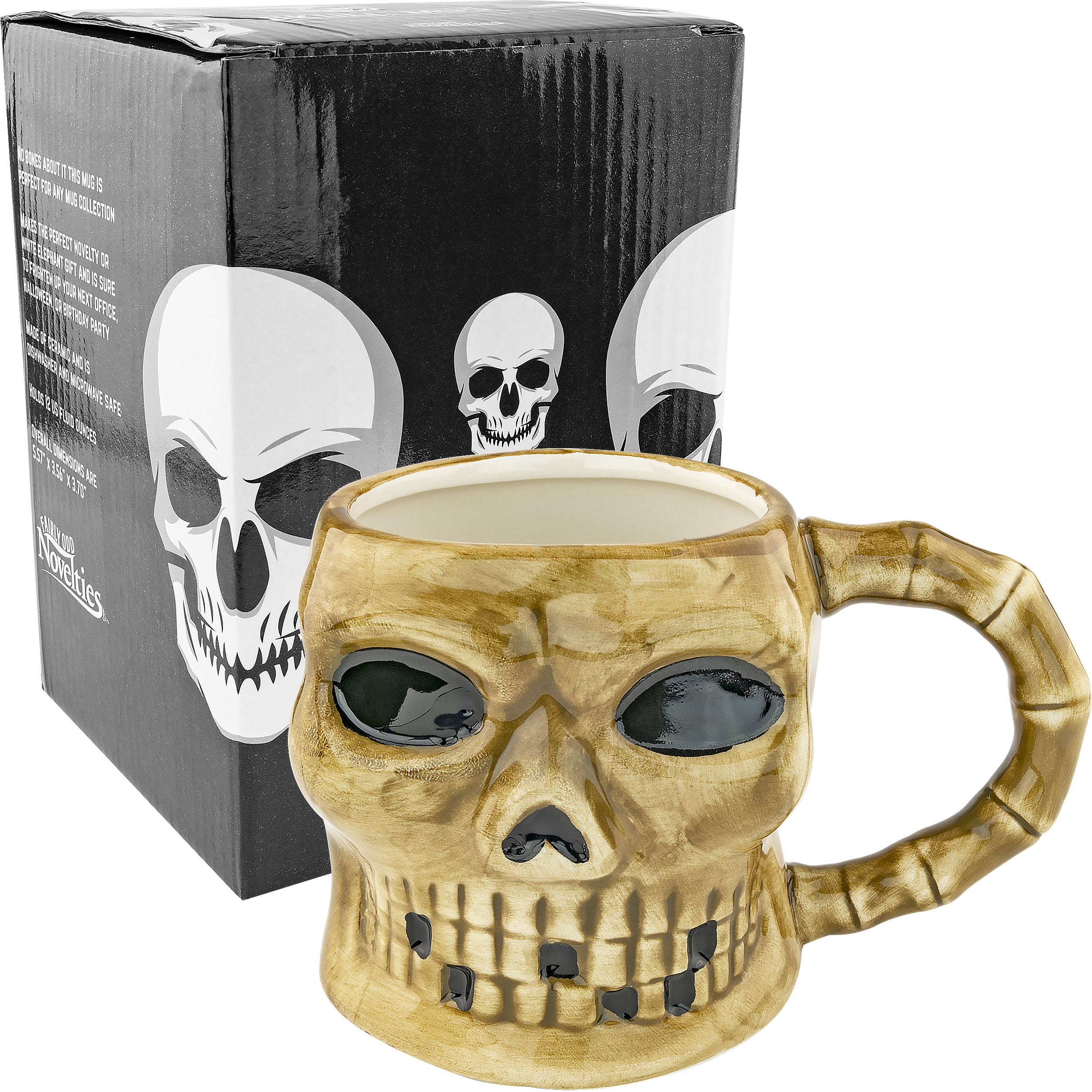 Large Skull Ceramic Coffee Mug