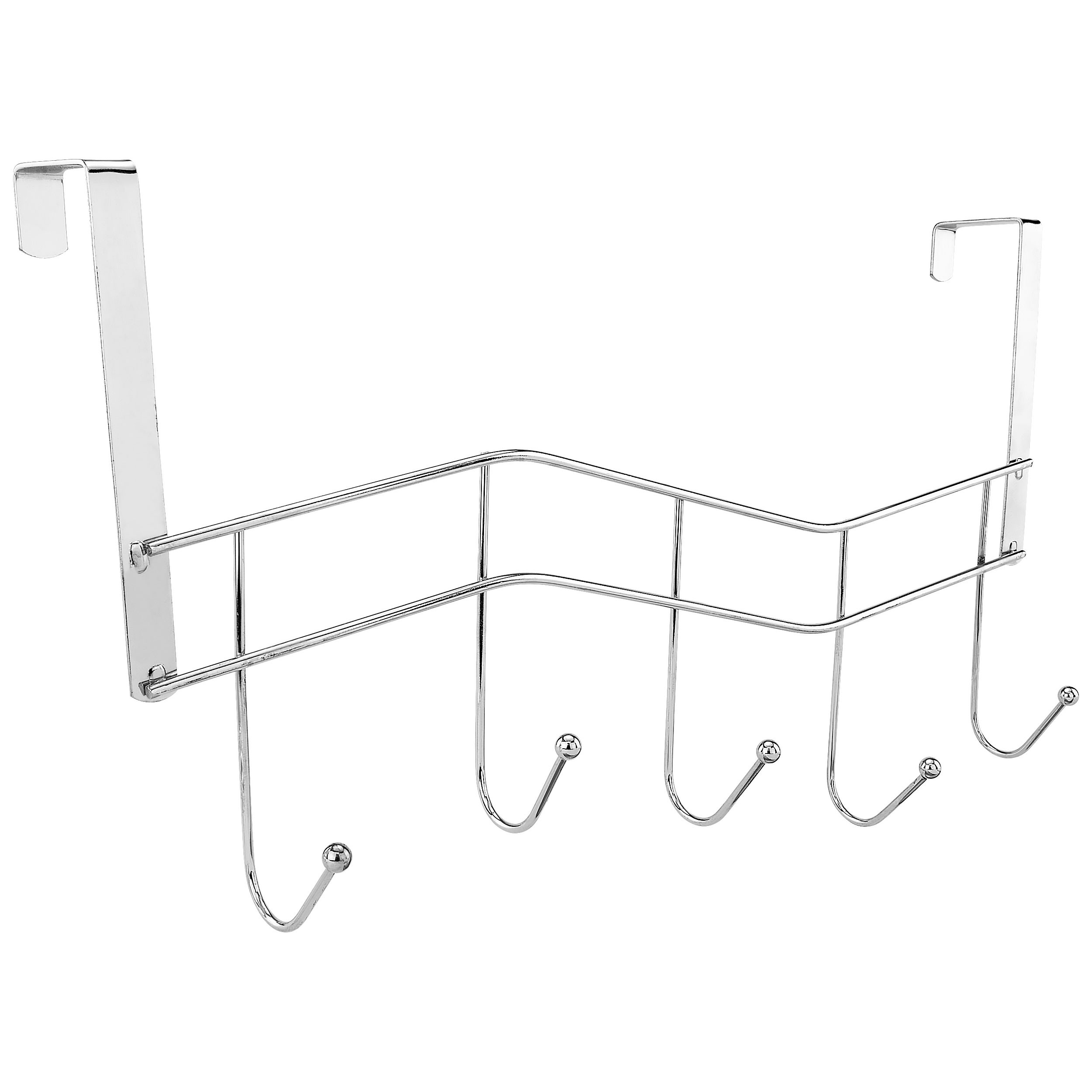 Southern Homewares Over The Door 5 Hook Storage Organizer Rack