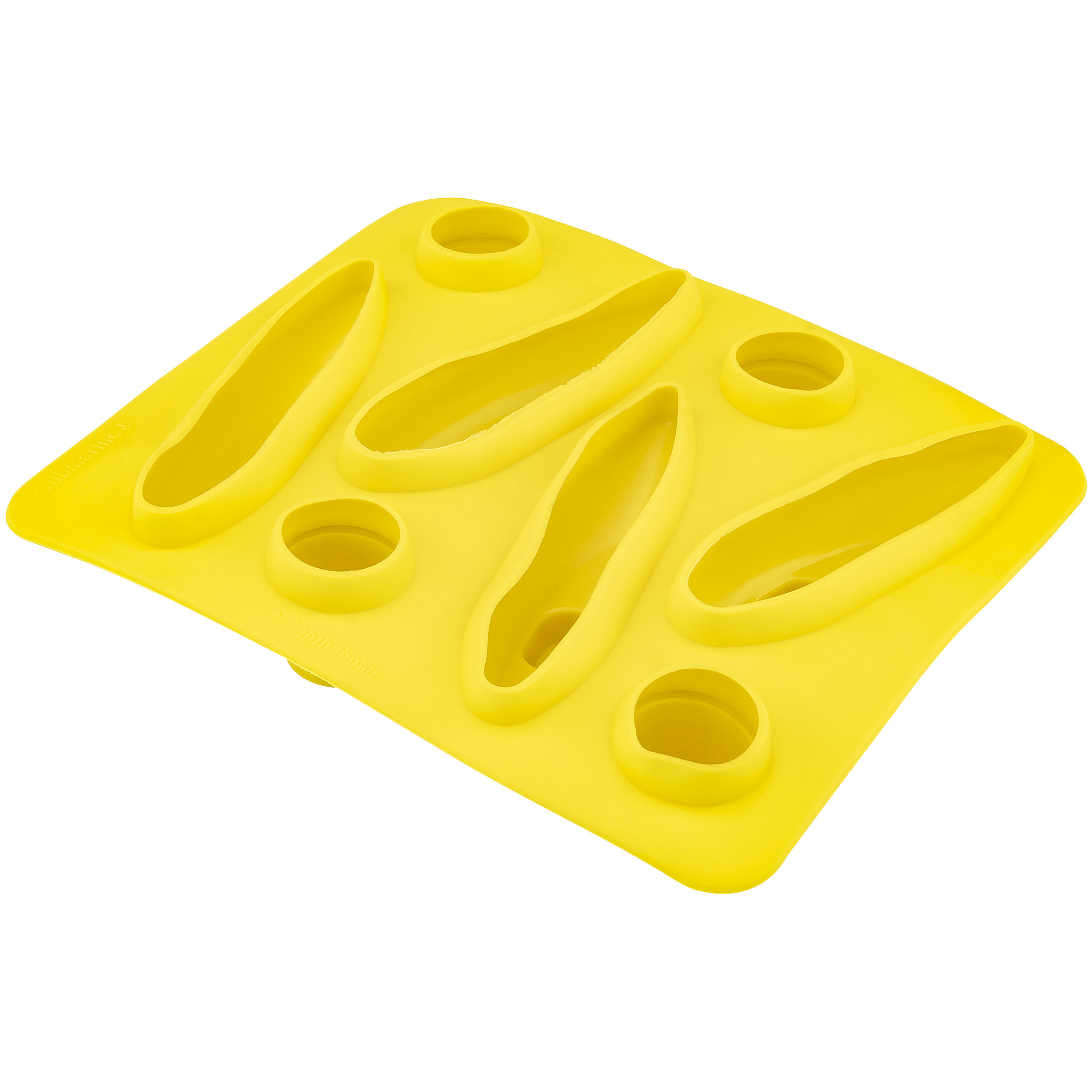 Fairly Odd Novelties FON-10005 Submarine Shape Flexible 8 Ice Cube Tray Mold Yellow Rubber Novelty Gag Gift, One Size,