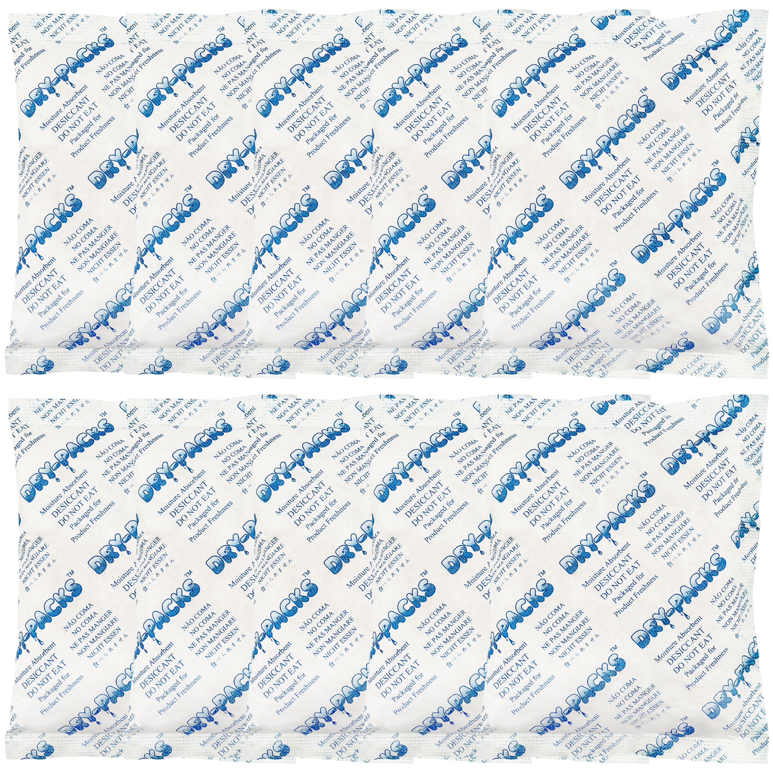 100 Gram X 10 PK Silica Gel Desiccant Moisture Absorber -FDA Compliant Food Safe