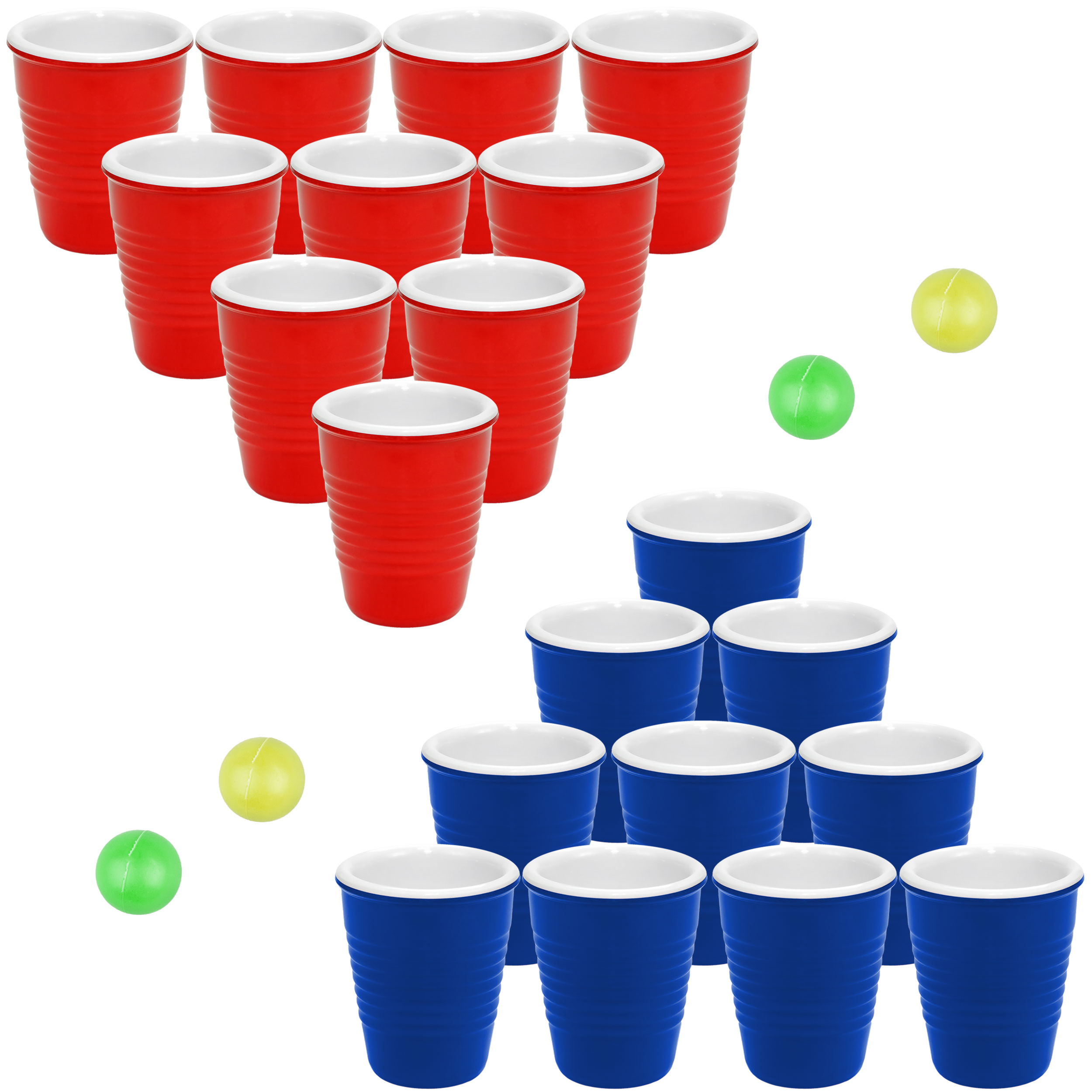 Pro Series Shot Pong Set - Fairly Odd Novelties - Drinking Game w/ 20 Hard Plastic Shot Glasses Gift