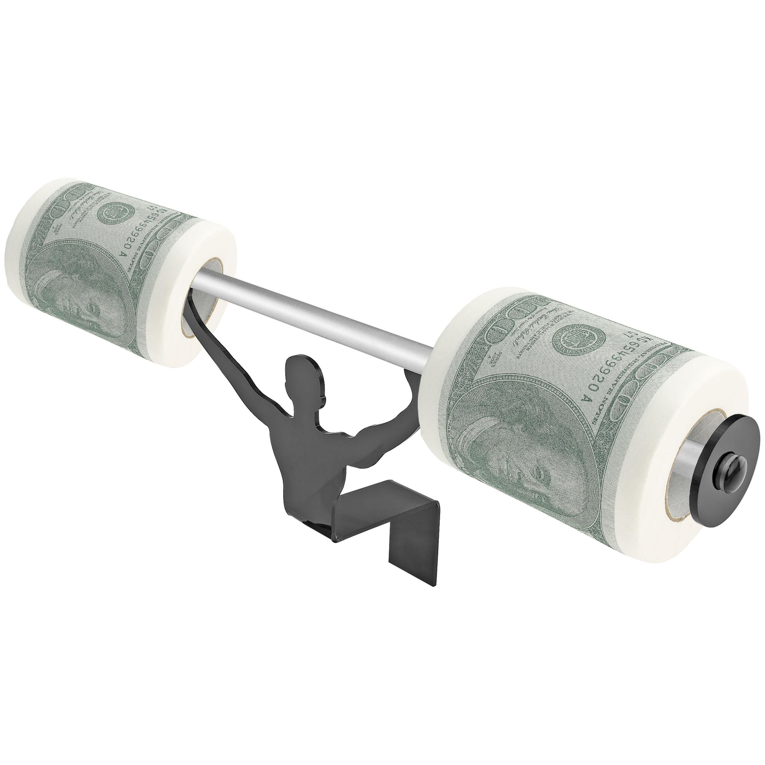 Fairly Odd Novelties USD Money Merica Toilet Paper W/Strong Man Holder Gift Set