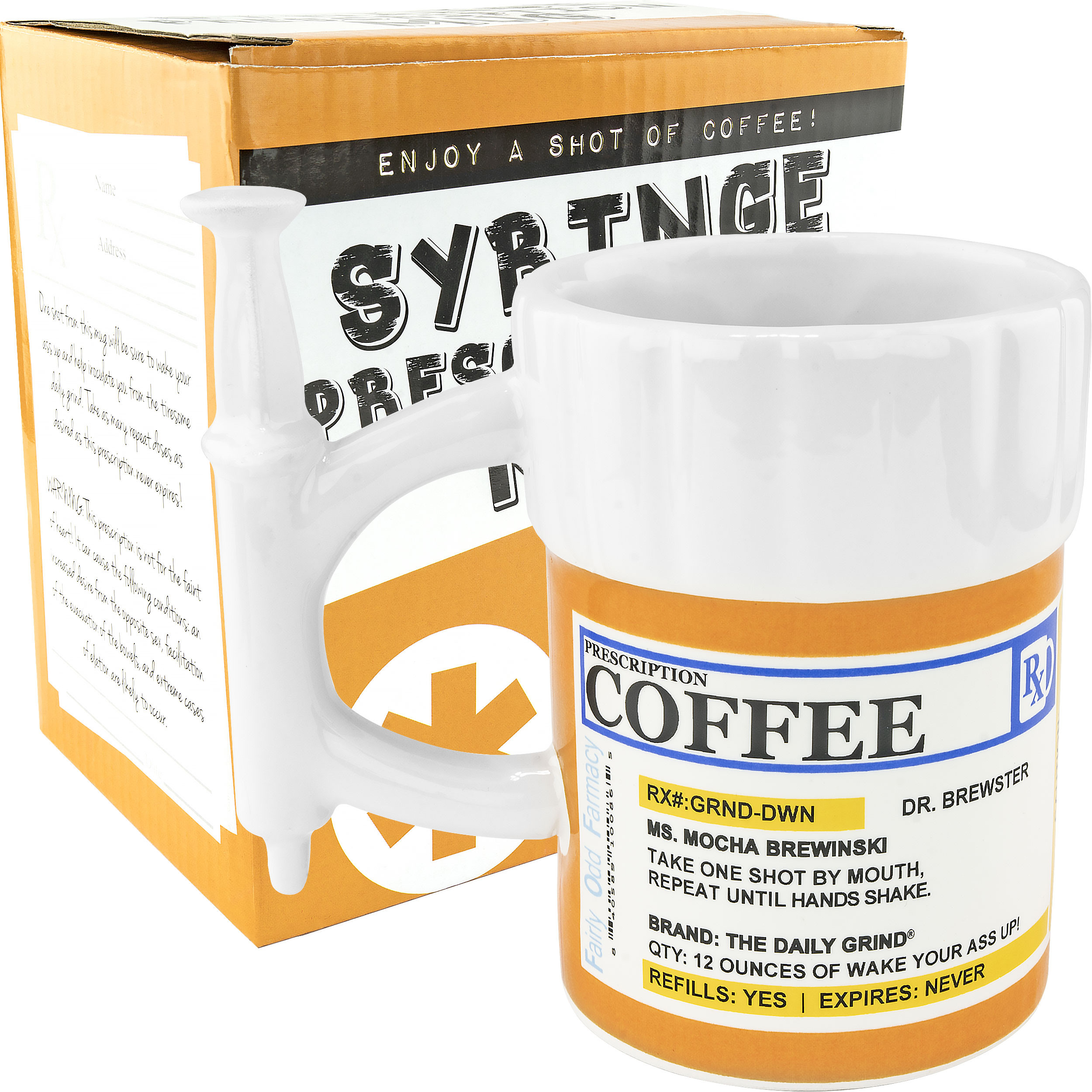 Prescription Syringe Coffee Mug