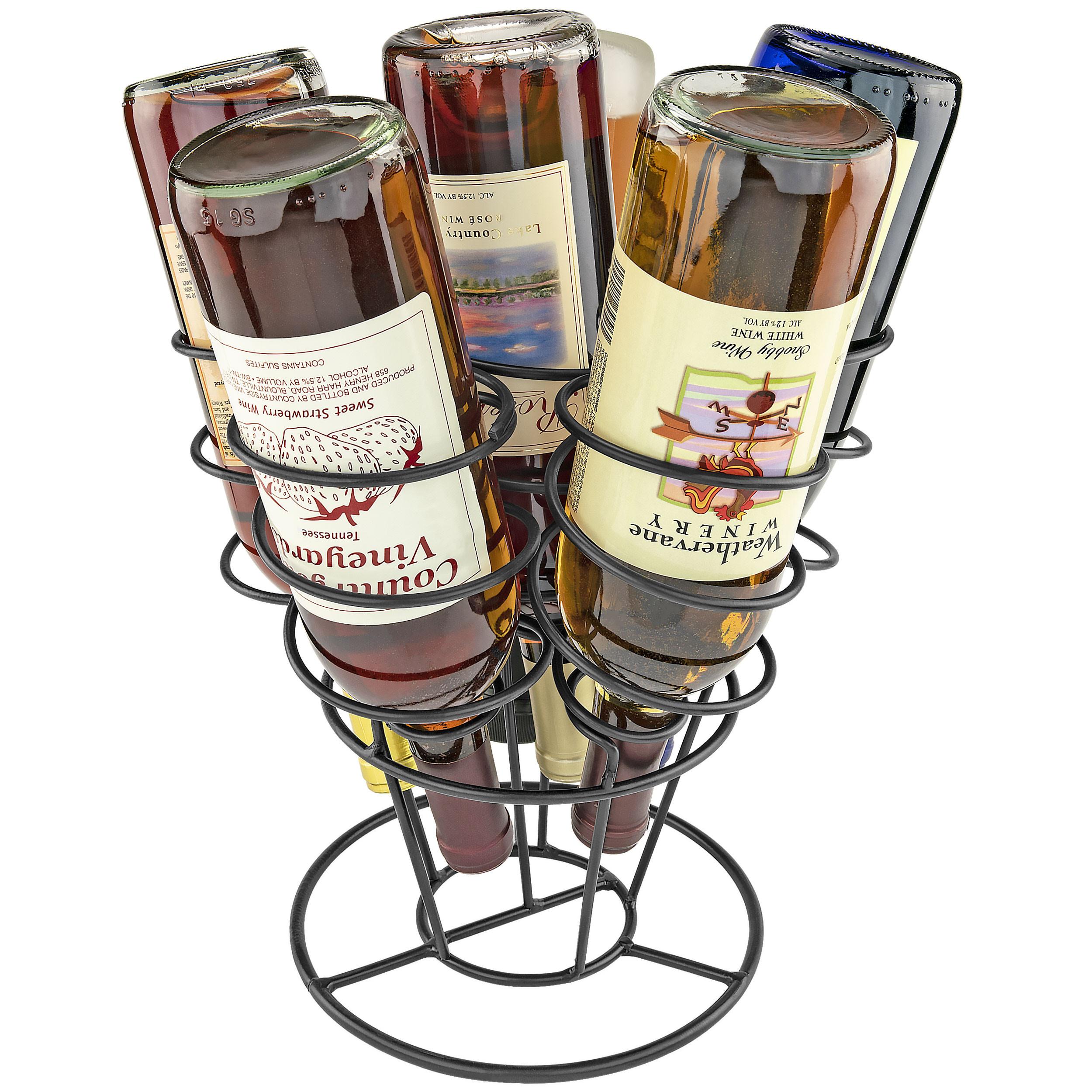 Southern Homewares 6 Bottle Bouquet Wine Rack Storage Holder Organizer Black