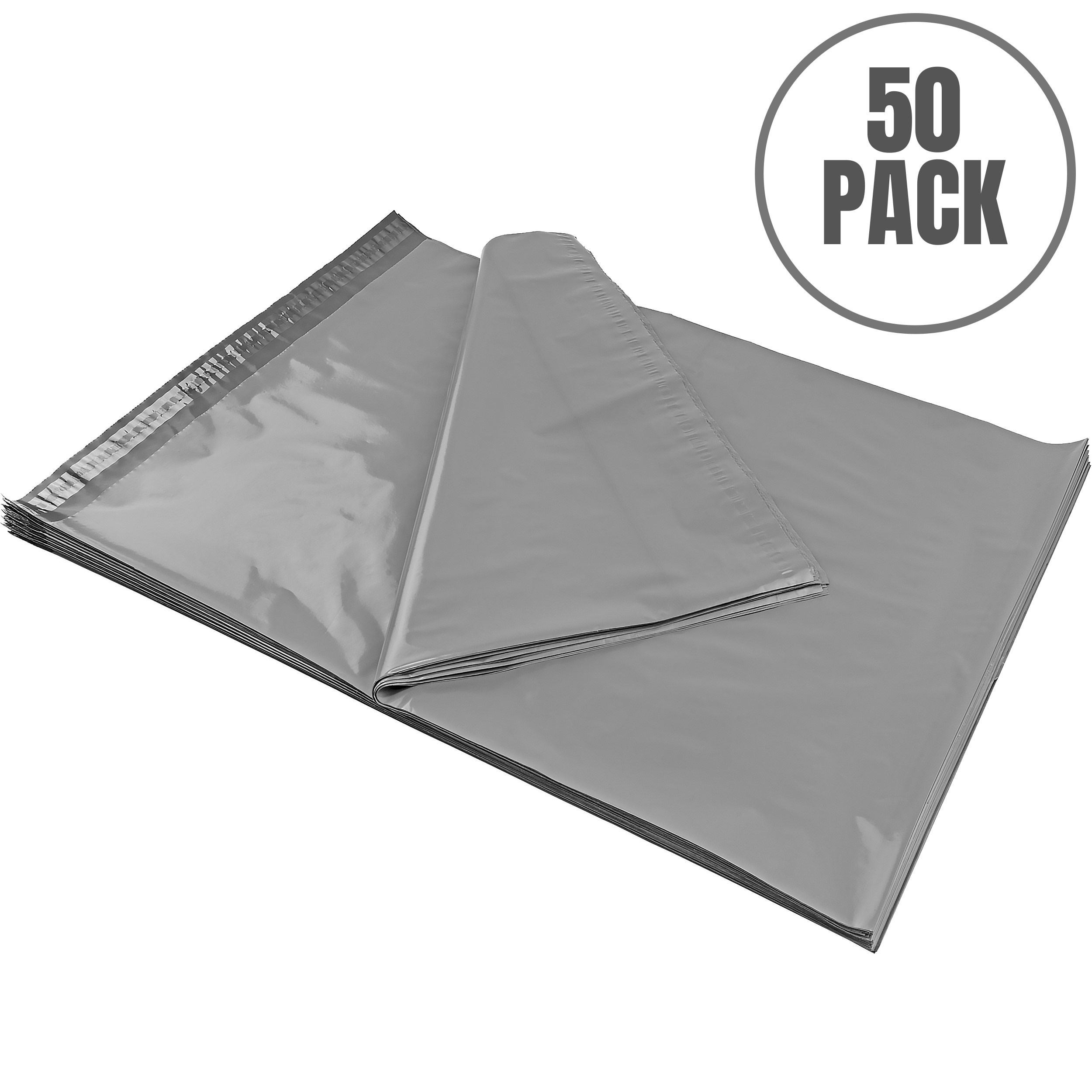 MAILERS4U 19 x 24 Inches Poly Shipping Envelopes/Self Sealing Bags, 2.4 Mil, 50-Count (19x24-PM-G60-50PK)