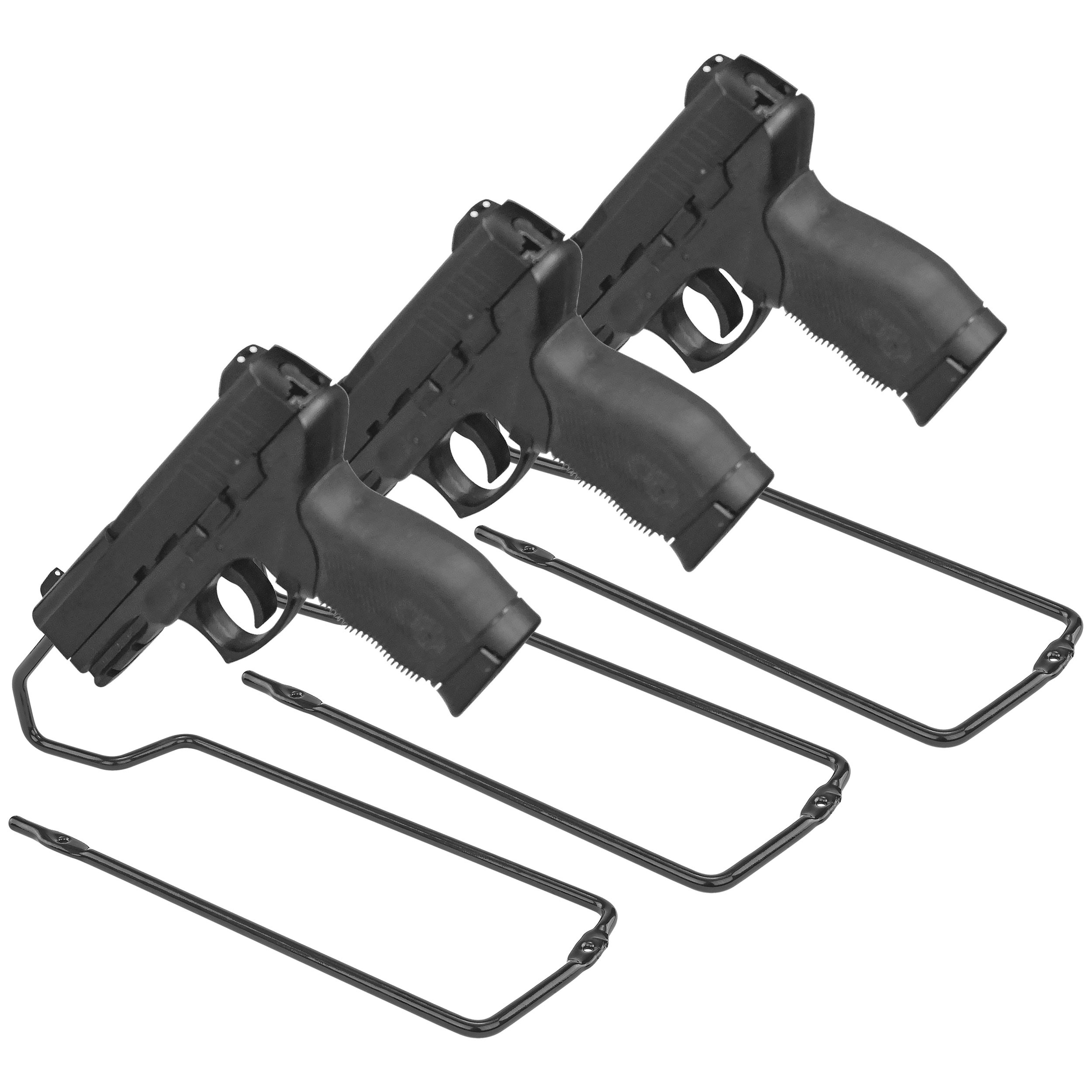 BOOMSTICK Gun Accessories Stand Style Vinyl Coated Metal Handgun Pistol Rack (Pack of 3)