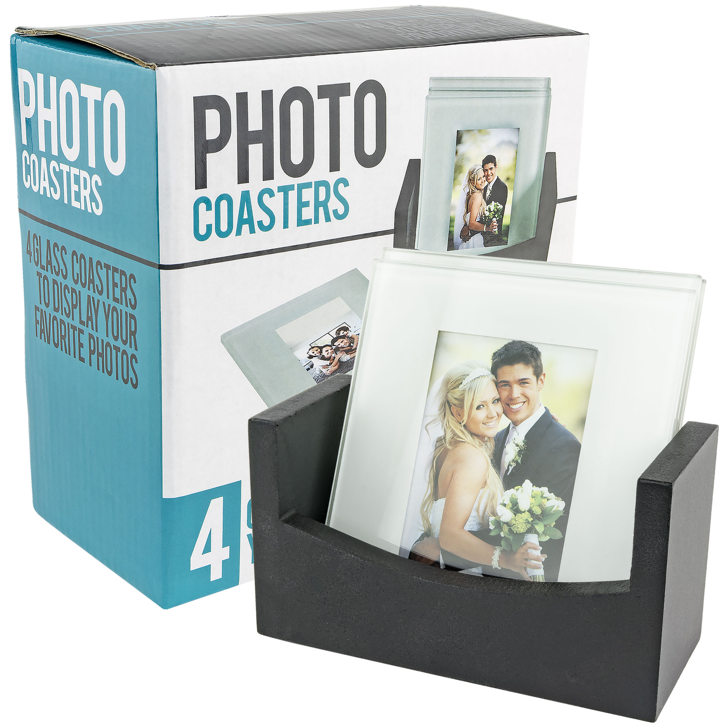 Glass Photo Frame Coasters