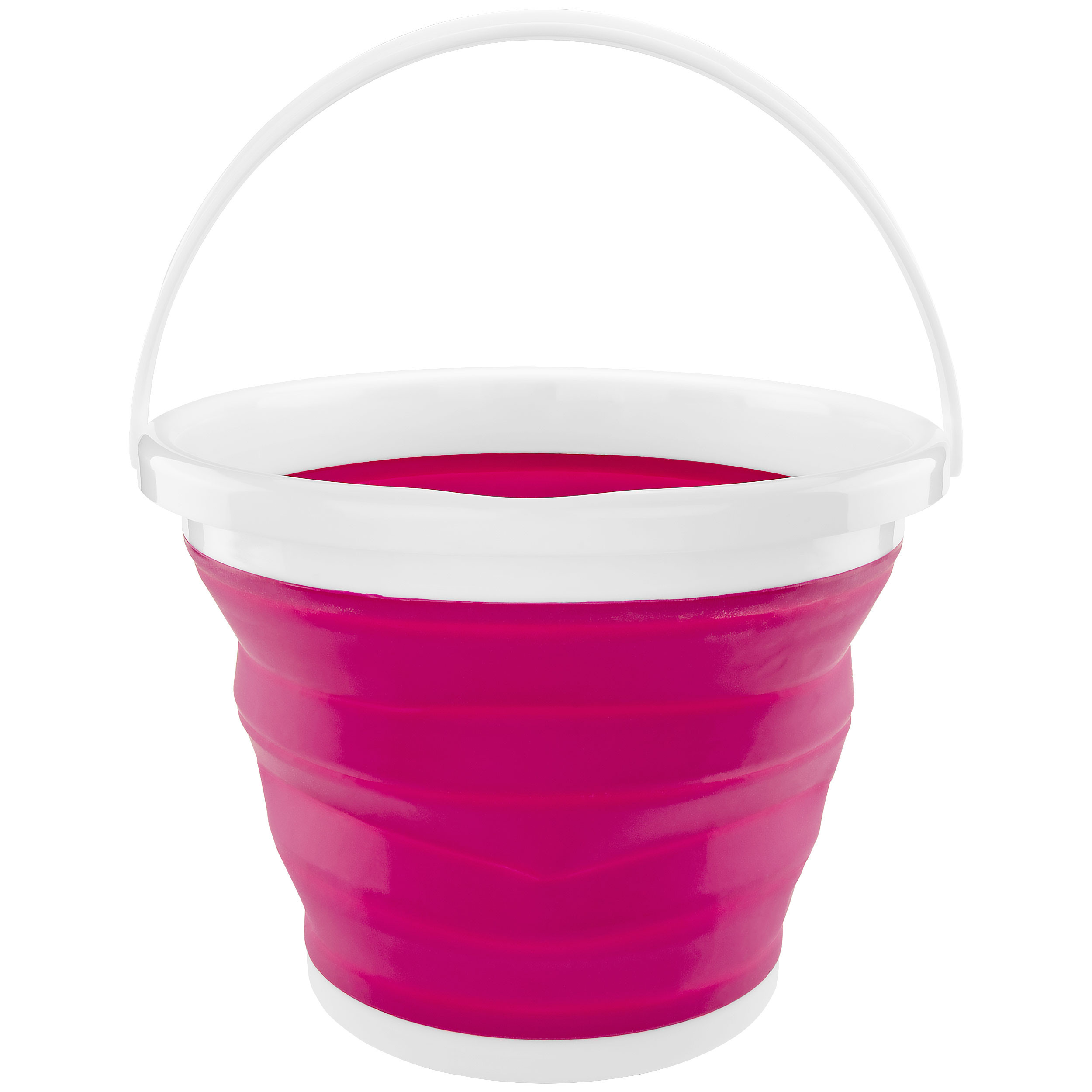 Southern Homewares Foldable Silicone Collapsible 2.65 Gallon Bucket Pink