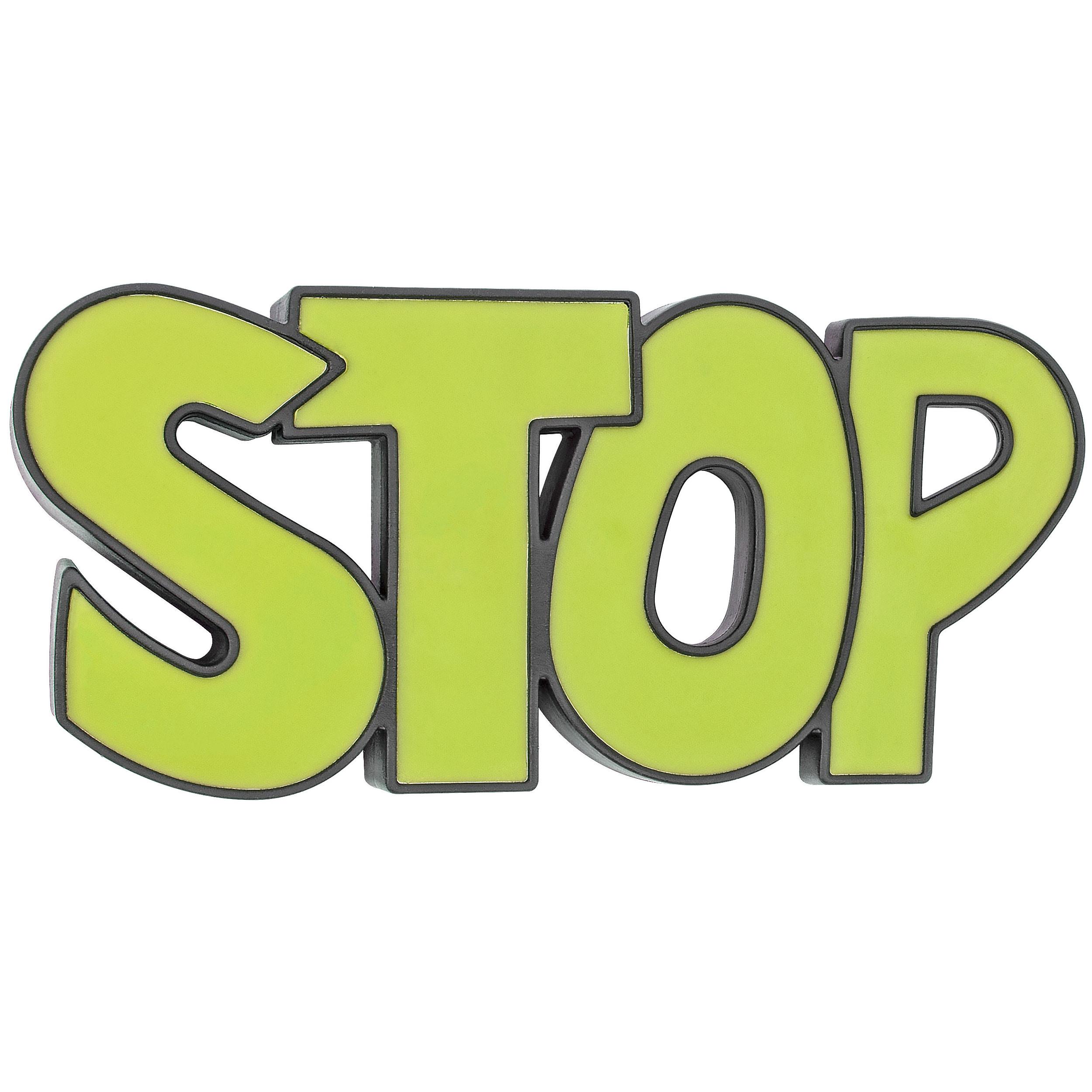 Fairly Odd Novelties Stop Door Stopper Door Wedge, Green