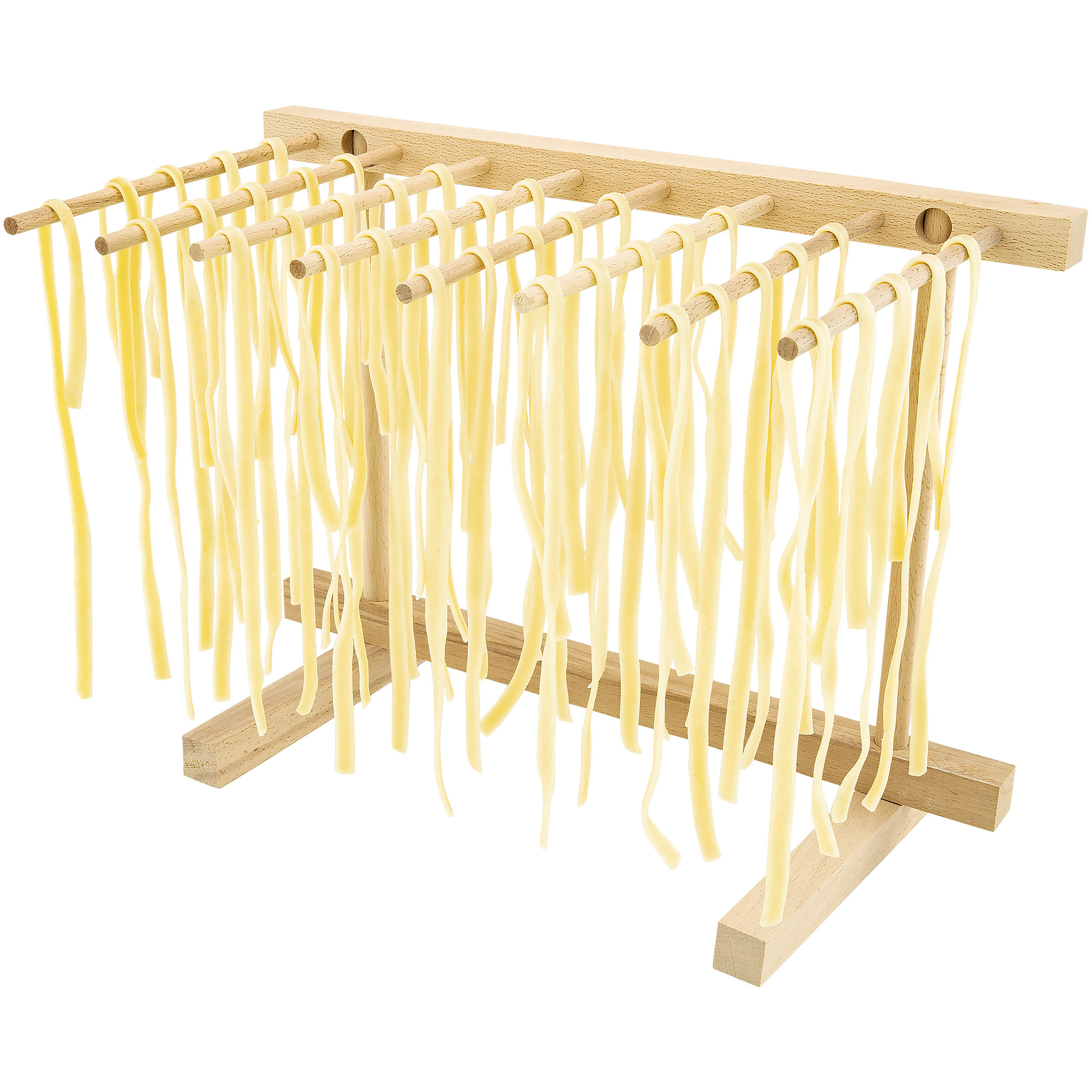 Southern Homewares SH-10153 Collapsible Wooden Pasta Drying Rack, Natural Beechwood, One Size, Brown