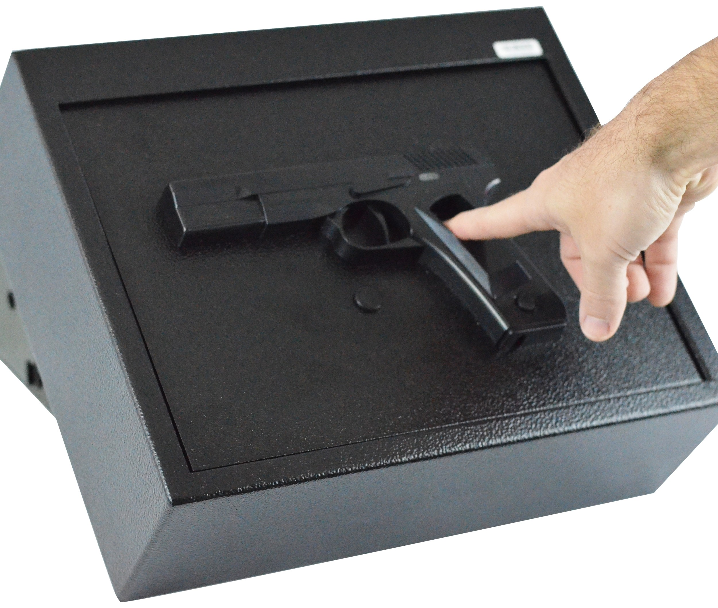 Biometric Fingerprint Drawer Personal Gun Safe, Black