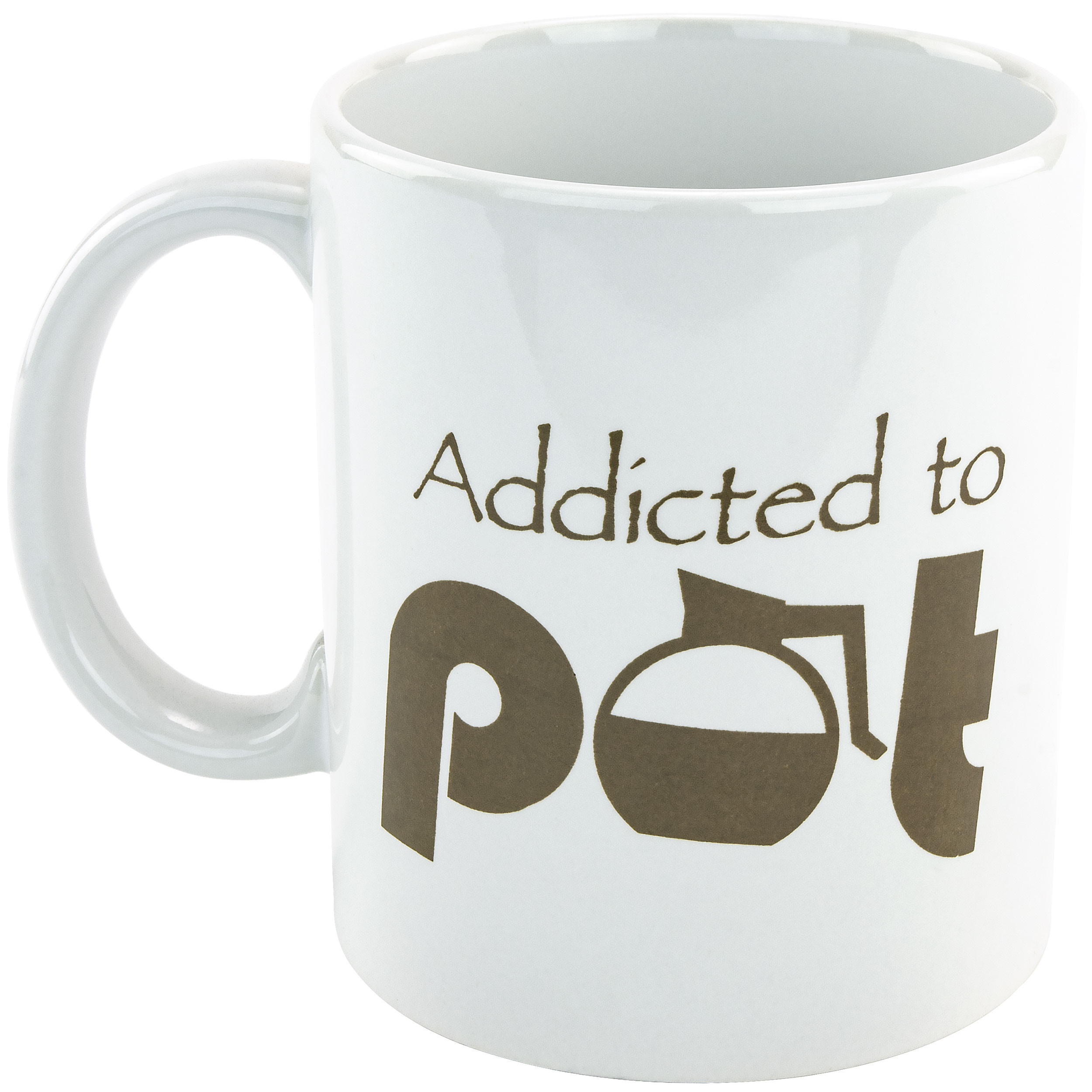 Fairly Odd Novelties FON-20022-001-001 Addicted To Pot-11oz Mug, One Size, White