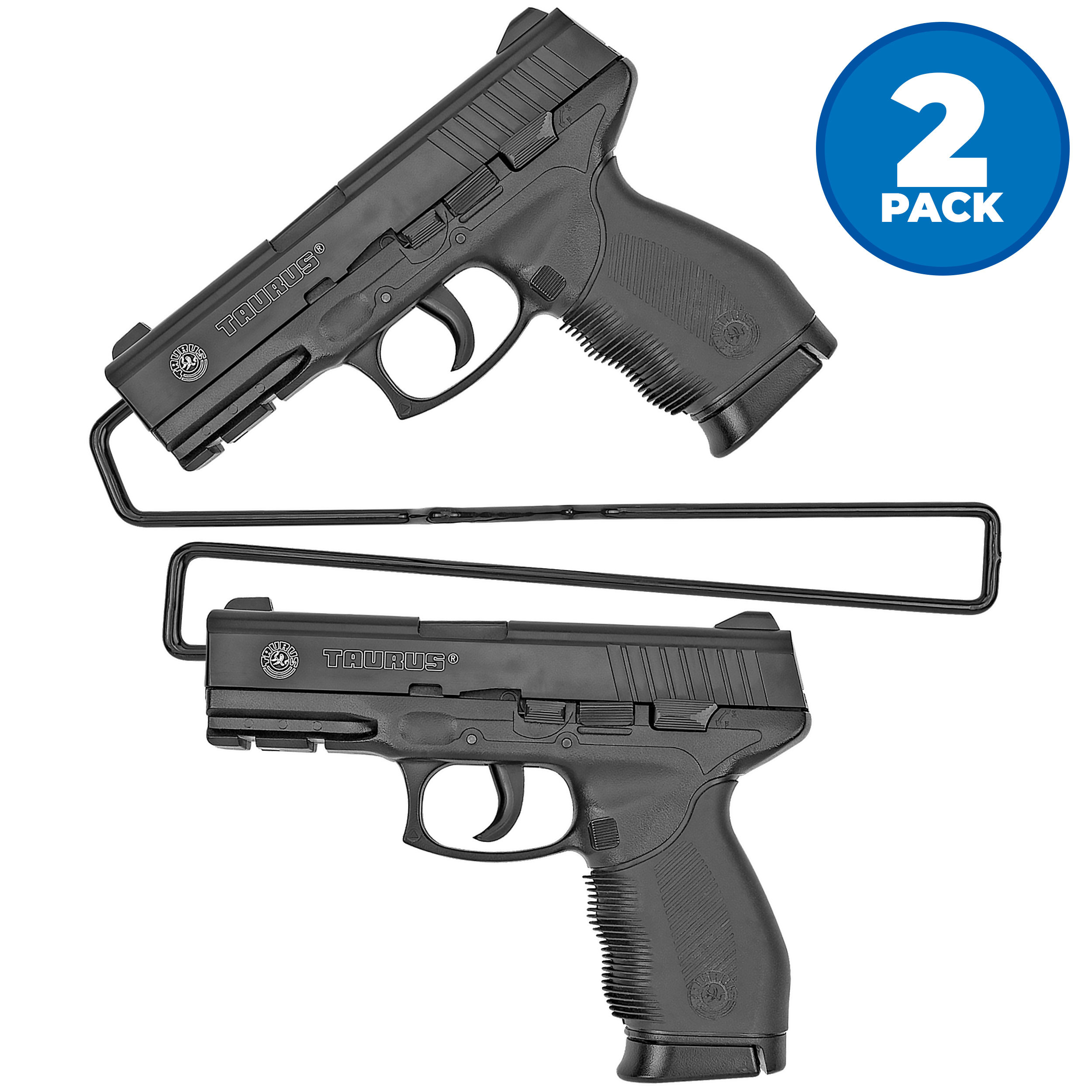 Universal Gun Over/Under Shelf Pistol Hangers, Set of 2