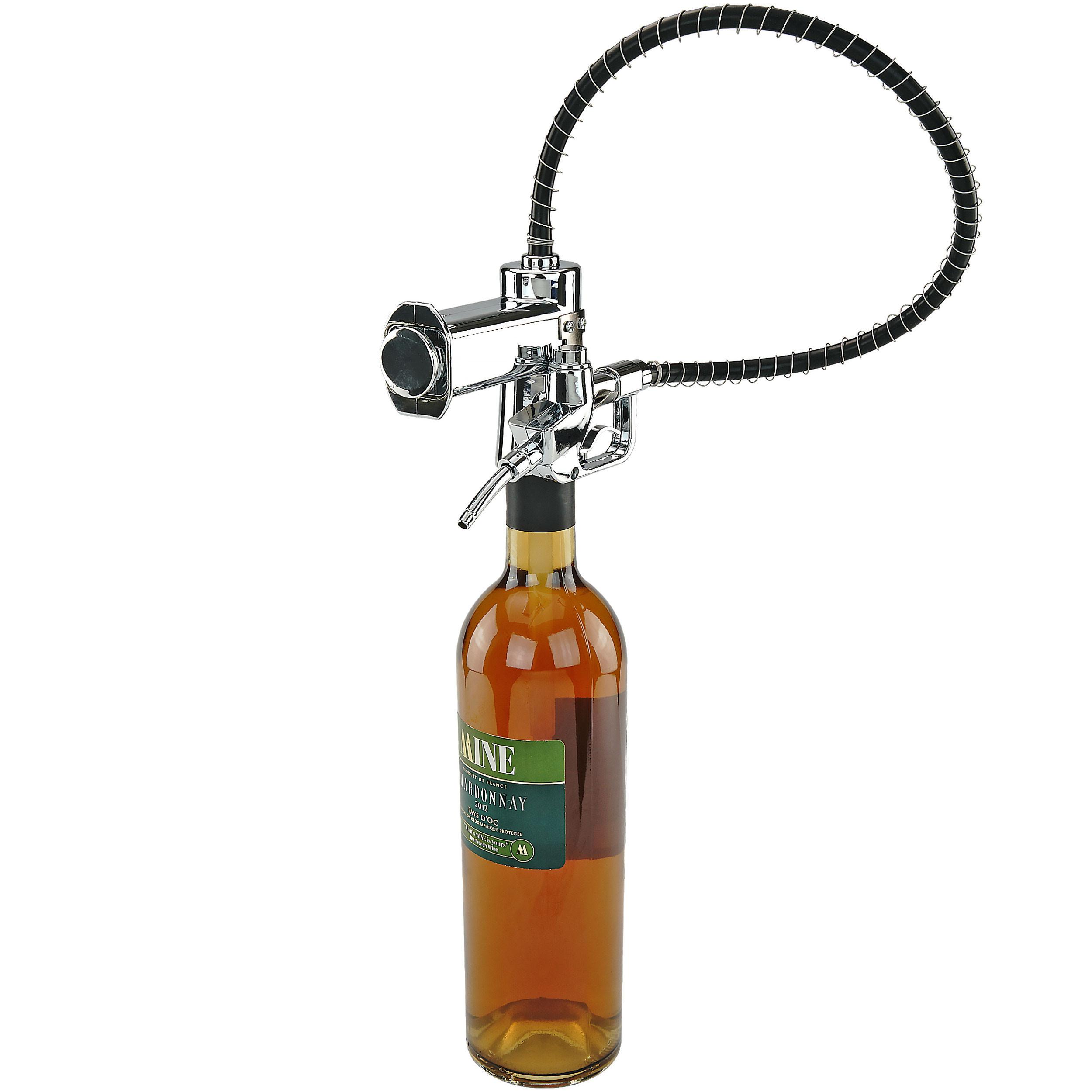Fairly Odd Novelties FON-10209 Gas/Fuel Pump Liquor (or Wine) Bottle Dispenser, One Size, Clear