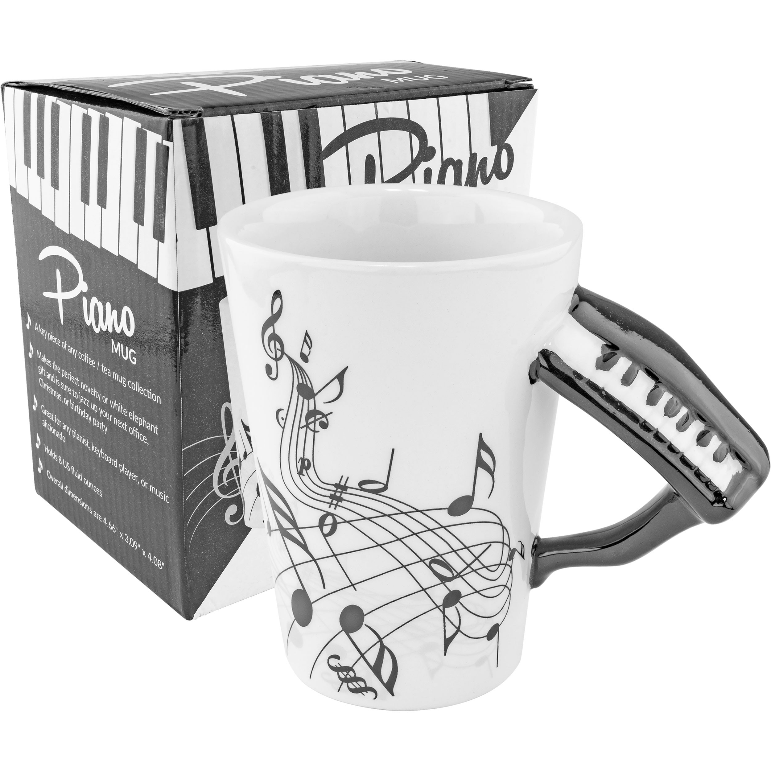 Black Piano Coffee Mug