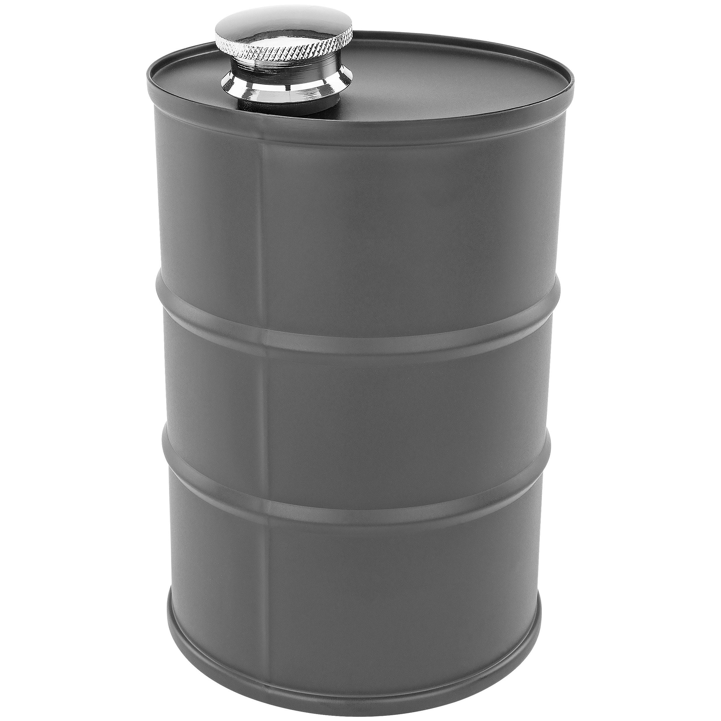 Fairly Odd Novelties FON-10228 Novelty Oil Barrel Flask, 26-ounce, One Size, Black