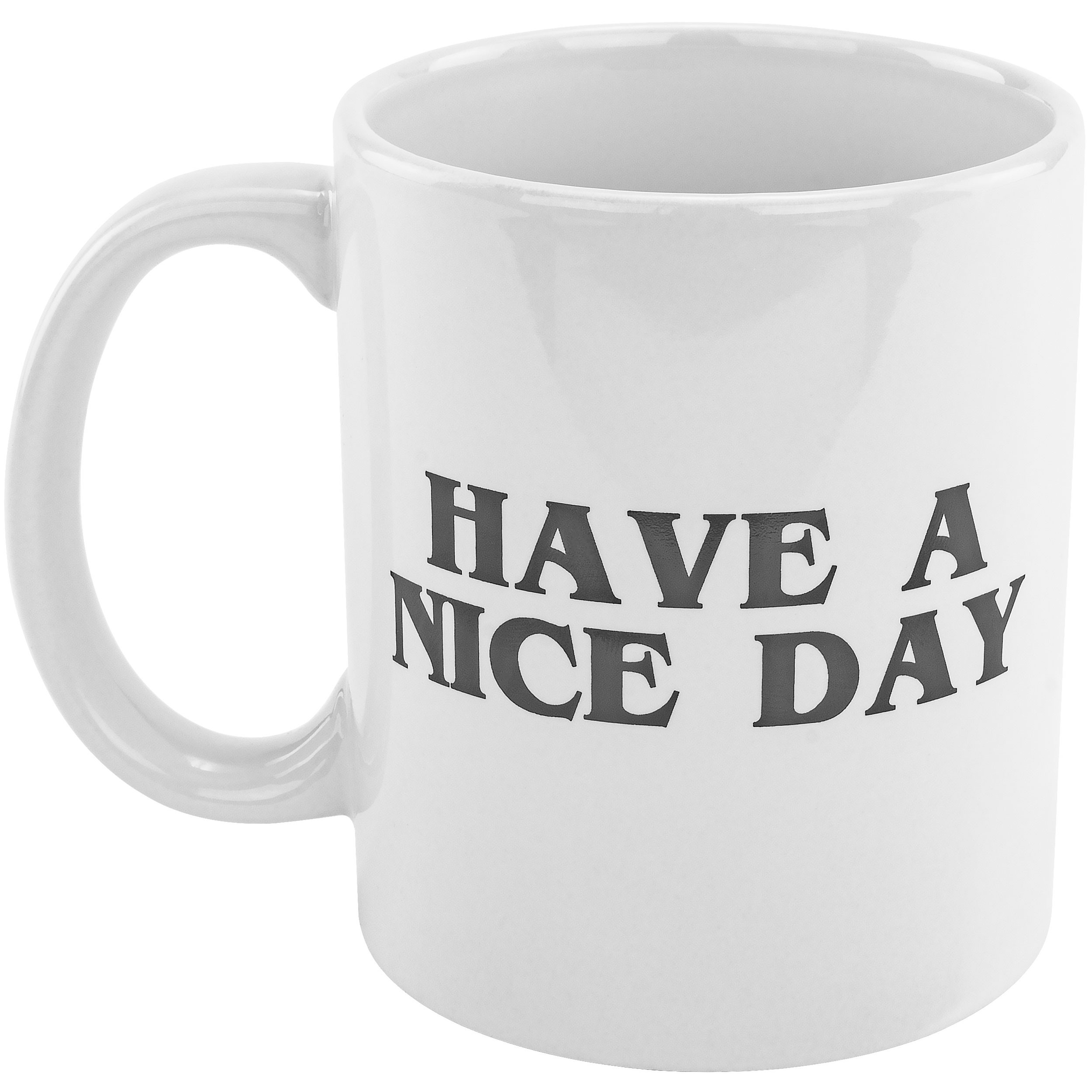 Fairly Odd Novelties FON-10241 Have A Have A Nice Day + Middle Finger 11oz Mug Funny Novelty Gag Offensive Gift/Present, One Size, White