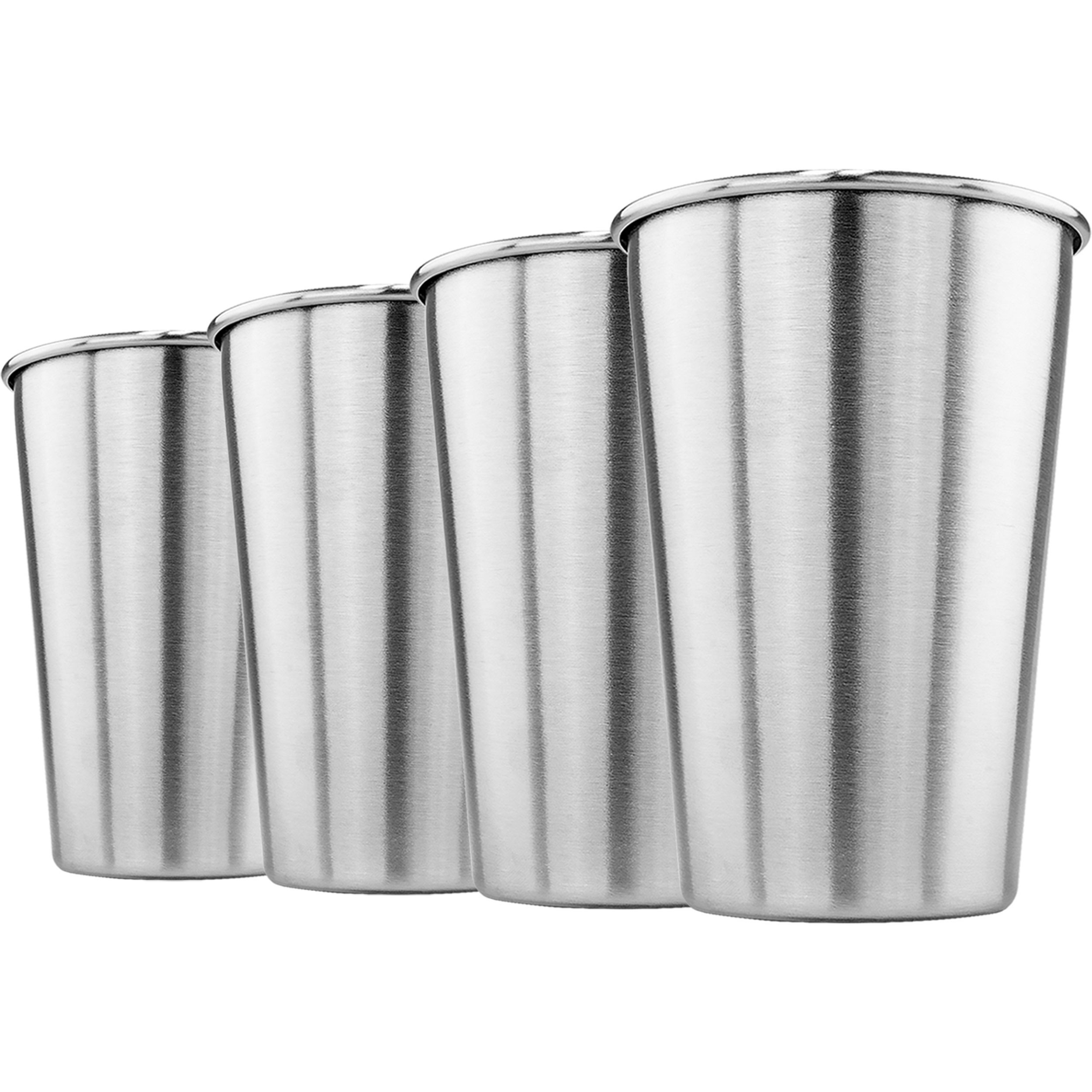 Stainless Steel Pint Cup 16oz, Set of Four