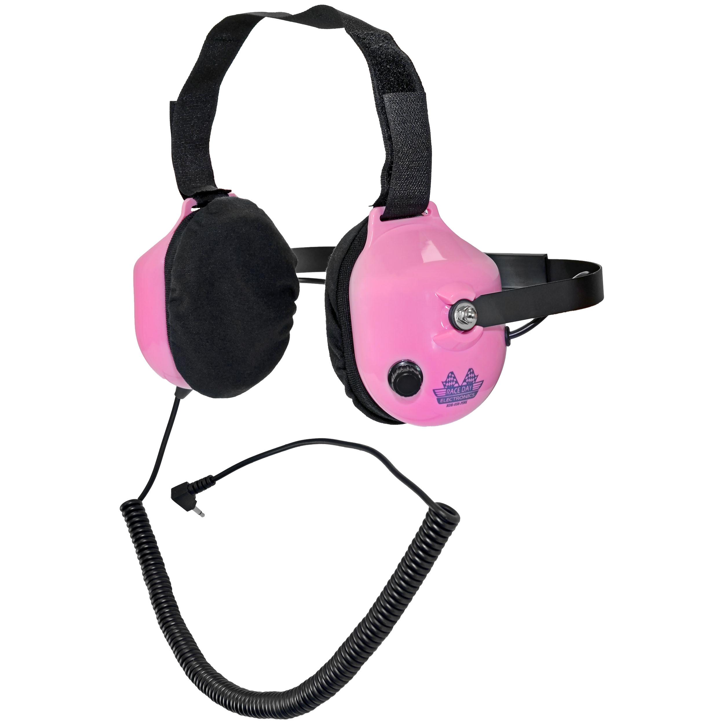 Noise-Reducing Race Scanner Headphones - Pink