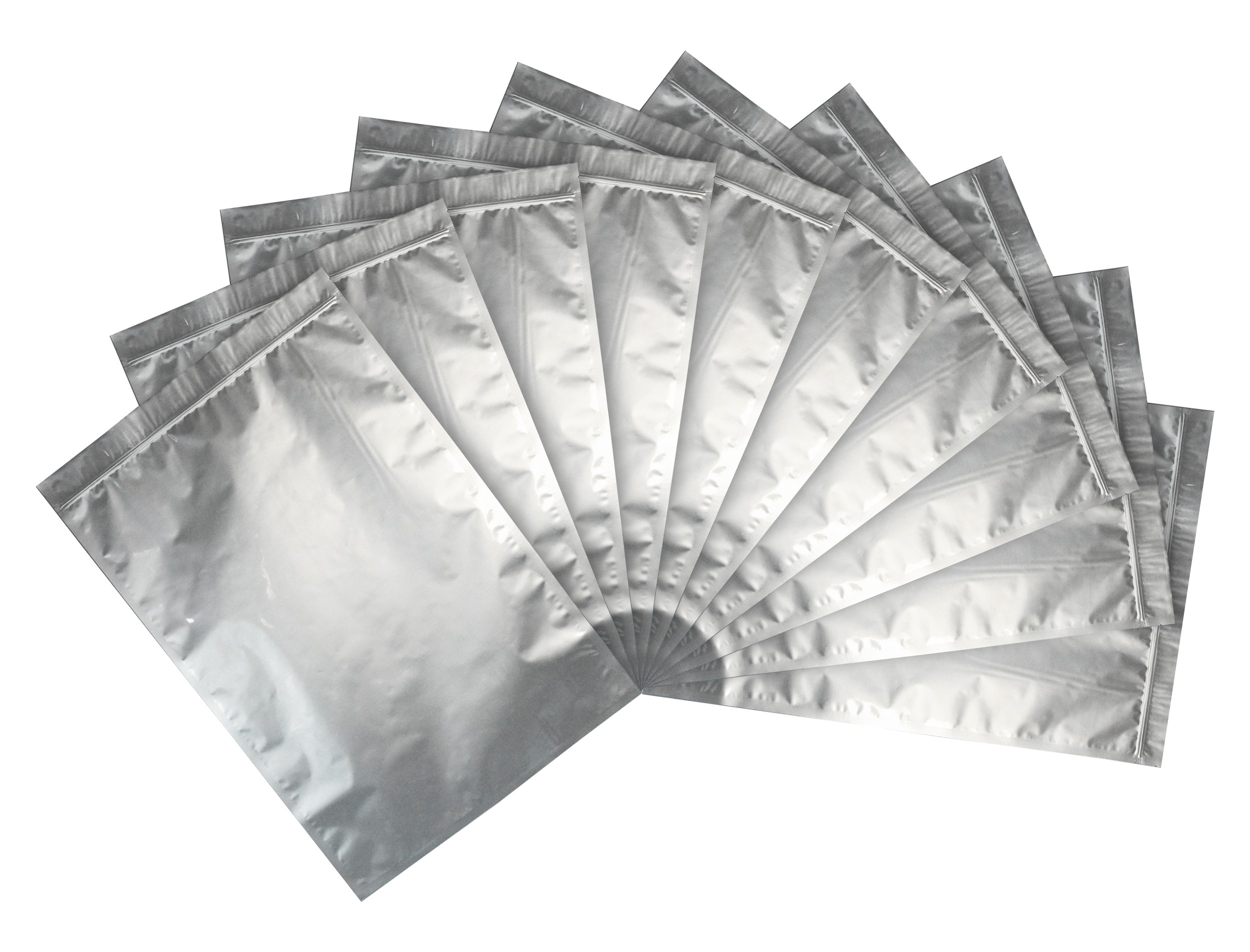 "20x30"" Aluminized Moisture Barrier & Static Shielding Zipper Bags, Set of 10"