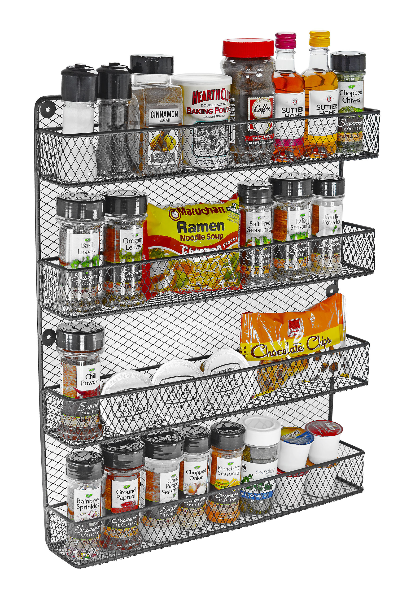 4 Tier Wall Spice Rack