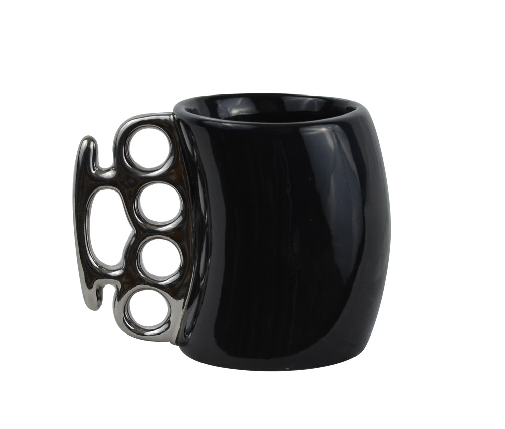 Black Knuckle Duster Ceramic Coffee Mug