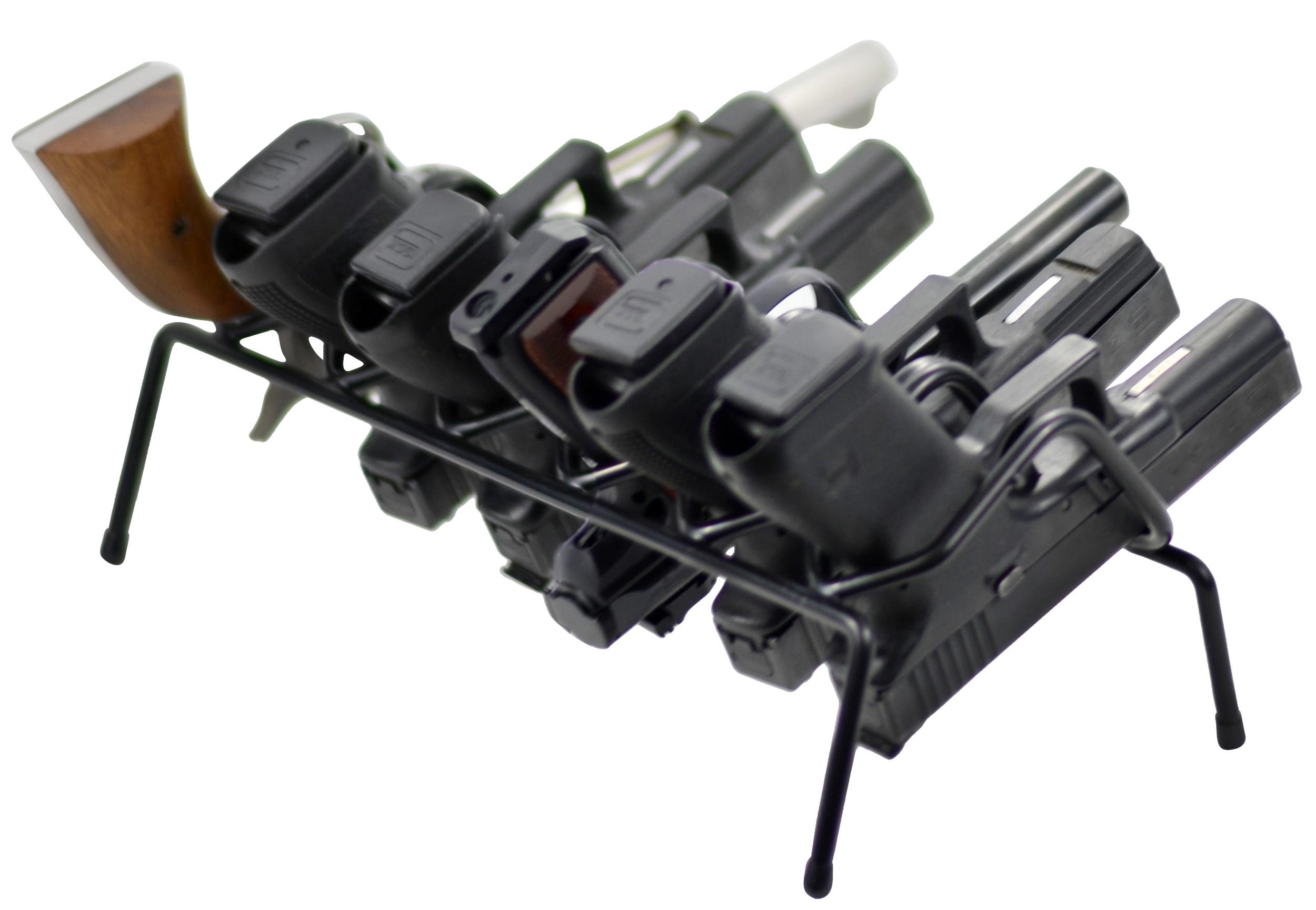 Handgun Rack 6 Gun Model, Black