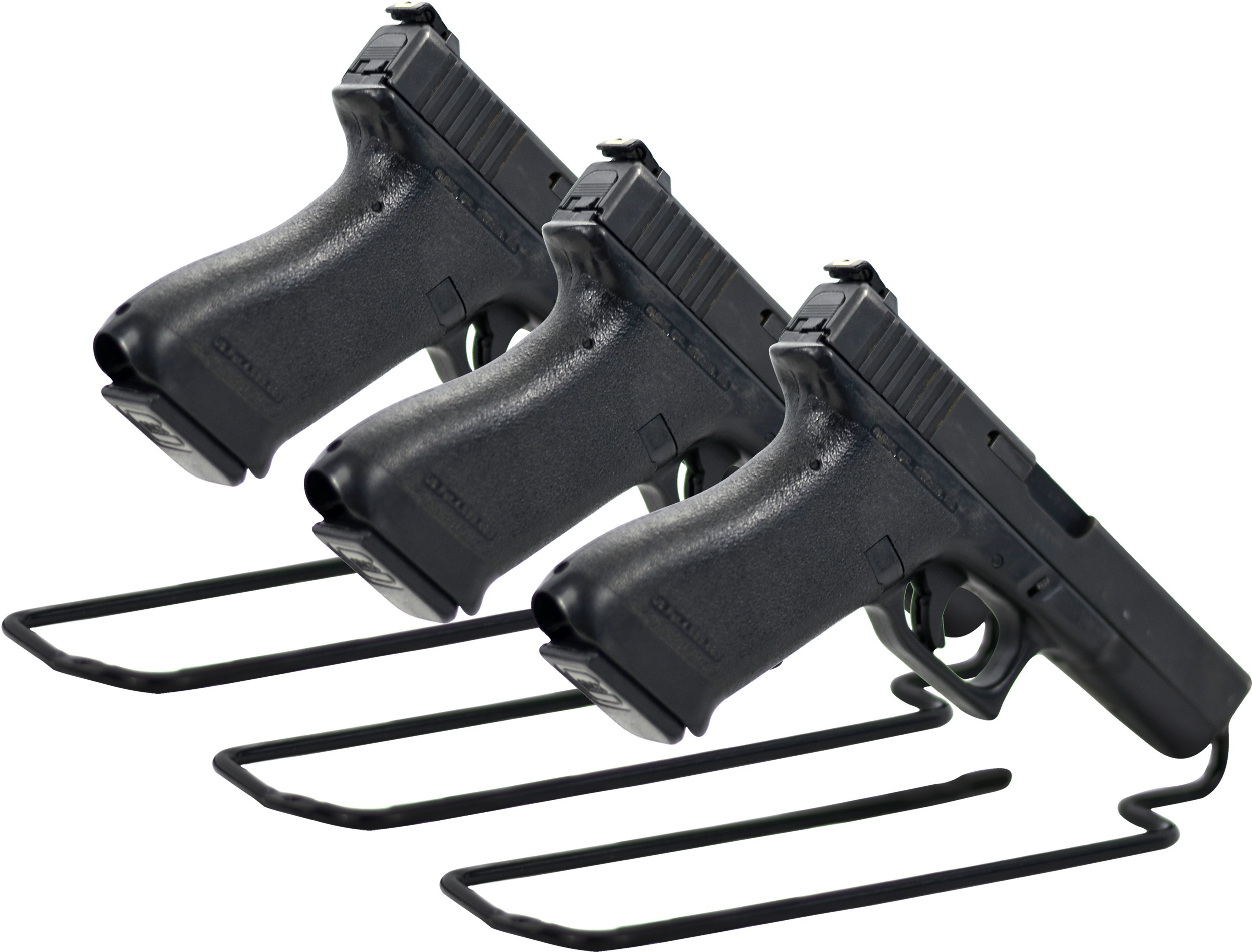 Handgun Stand Rack Single Gun Model Pack of 3