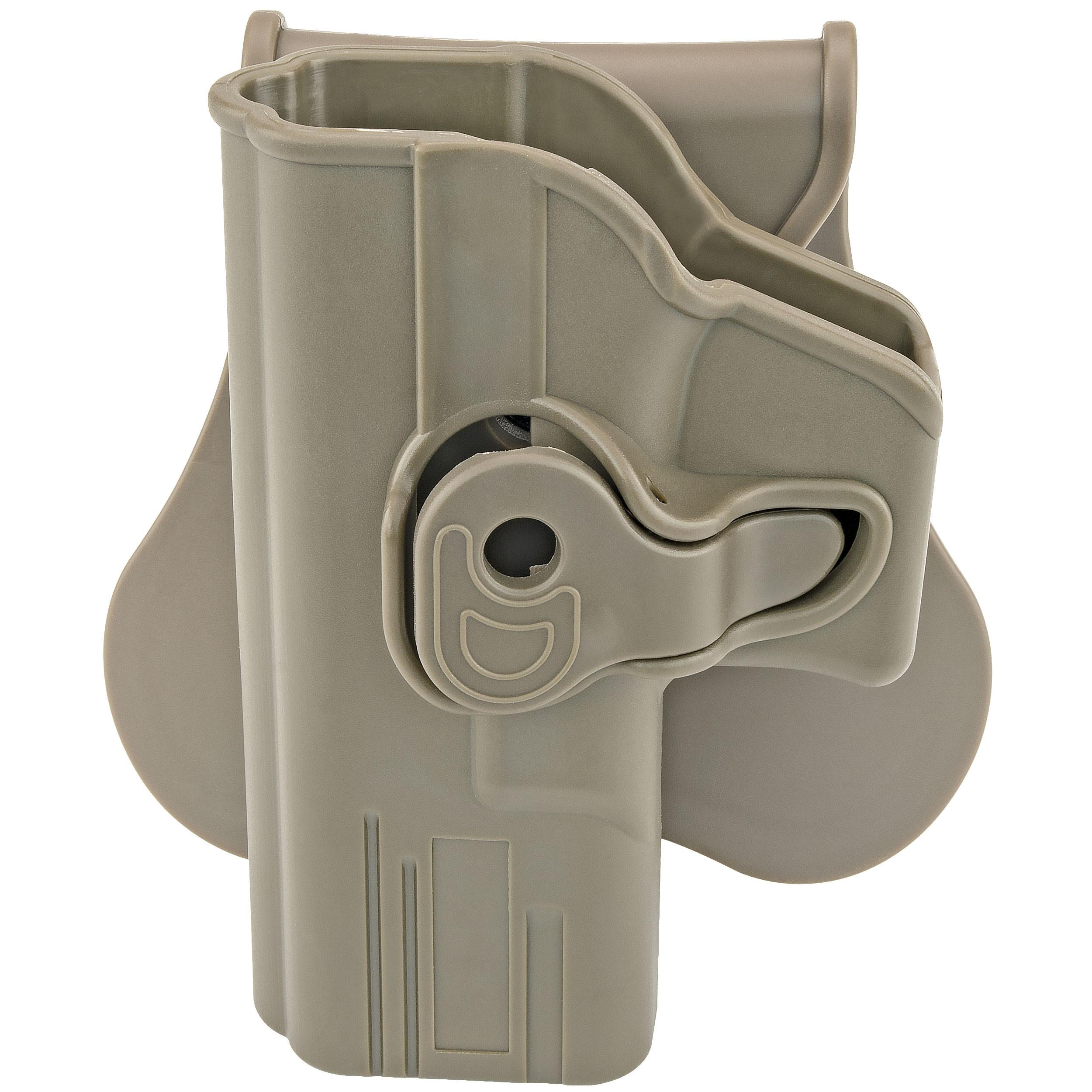 Fits Glock 19, 23, 32 (Gen 1,2,3,4) Left Hand; FDE Holster