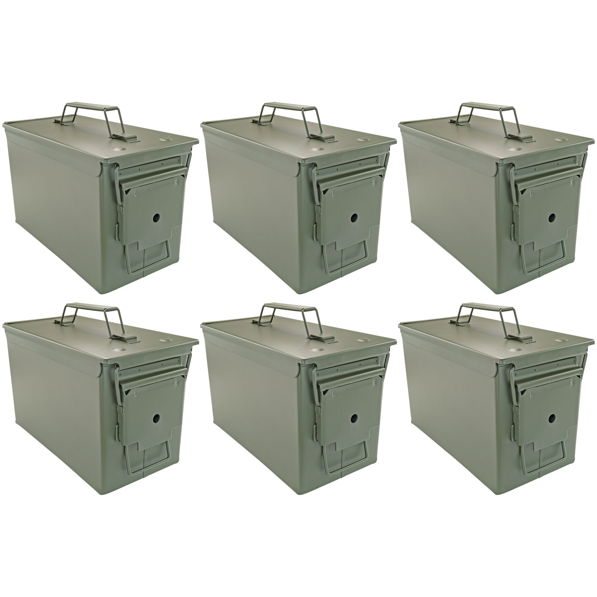 .50 Cal Ammo Cans, Set of 6