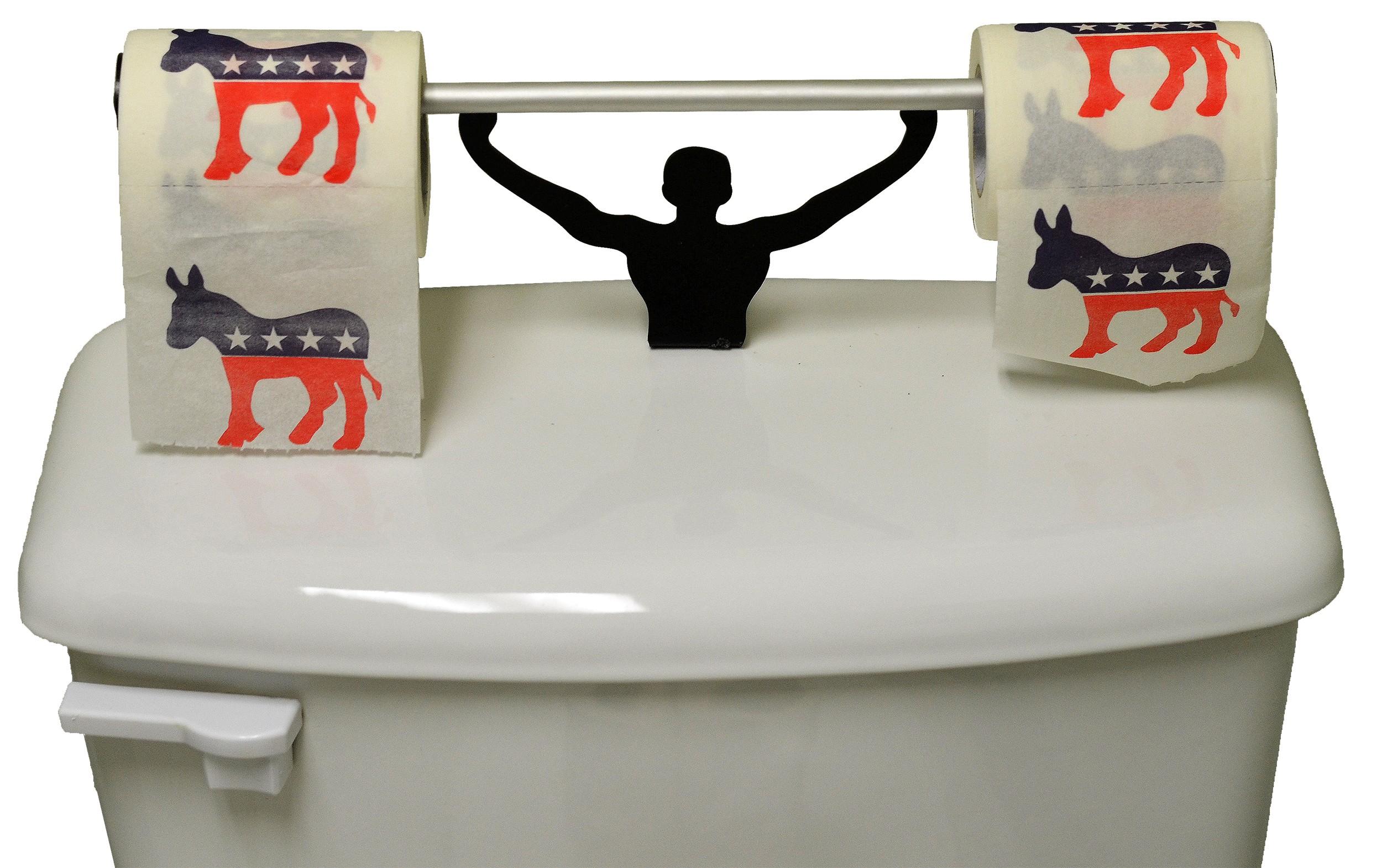 Novelty Toilet Paper Holder Gift Set