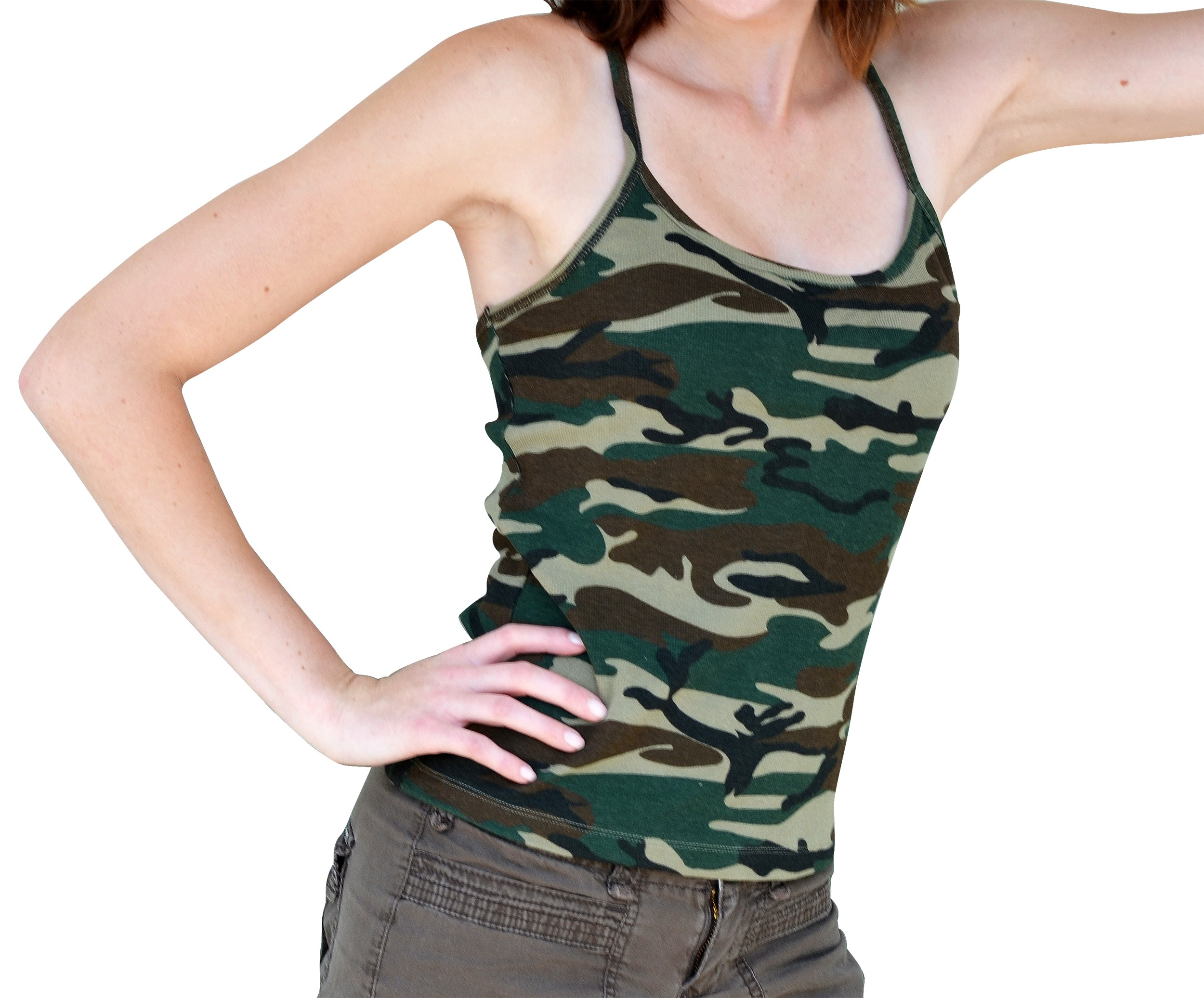 Camo Print Tank Top - Girls Juniors - Size: XL