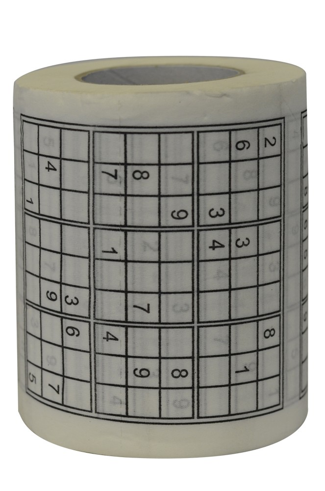 Sudoku Puzzle Game Roll Novelty Toilet Paper