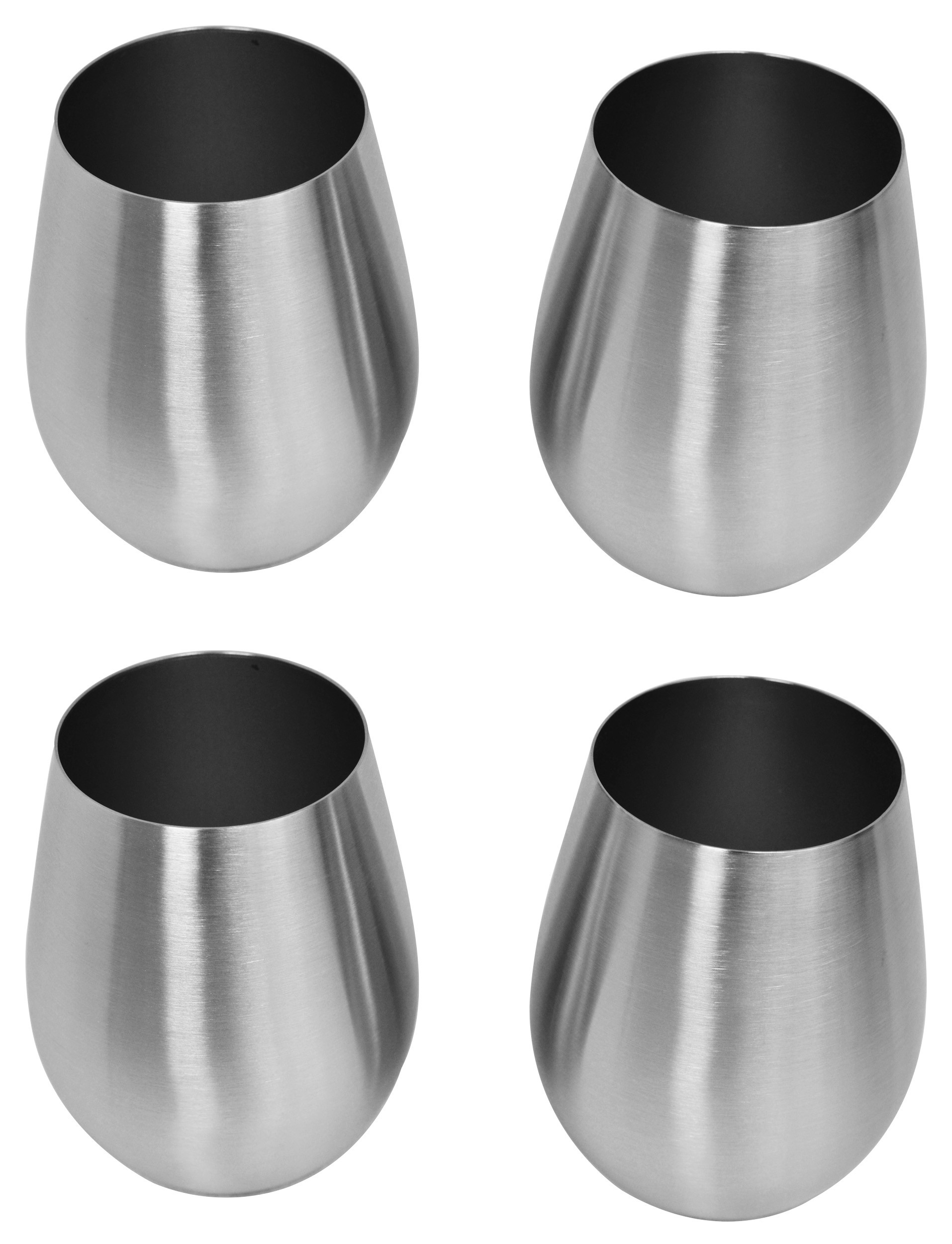 Stainless Stemless Wine Glass, Set of 2, Pack of 2