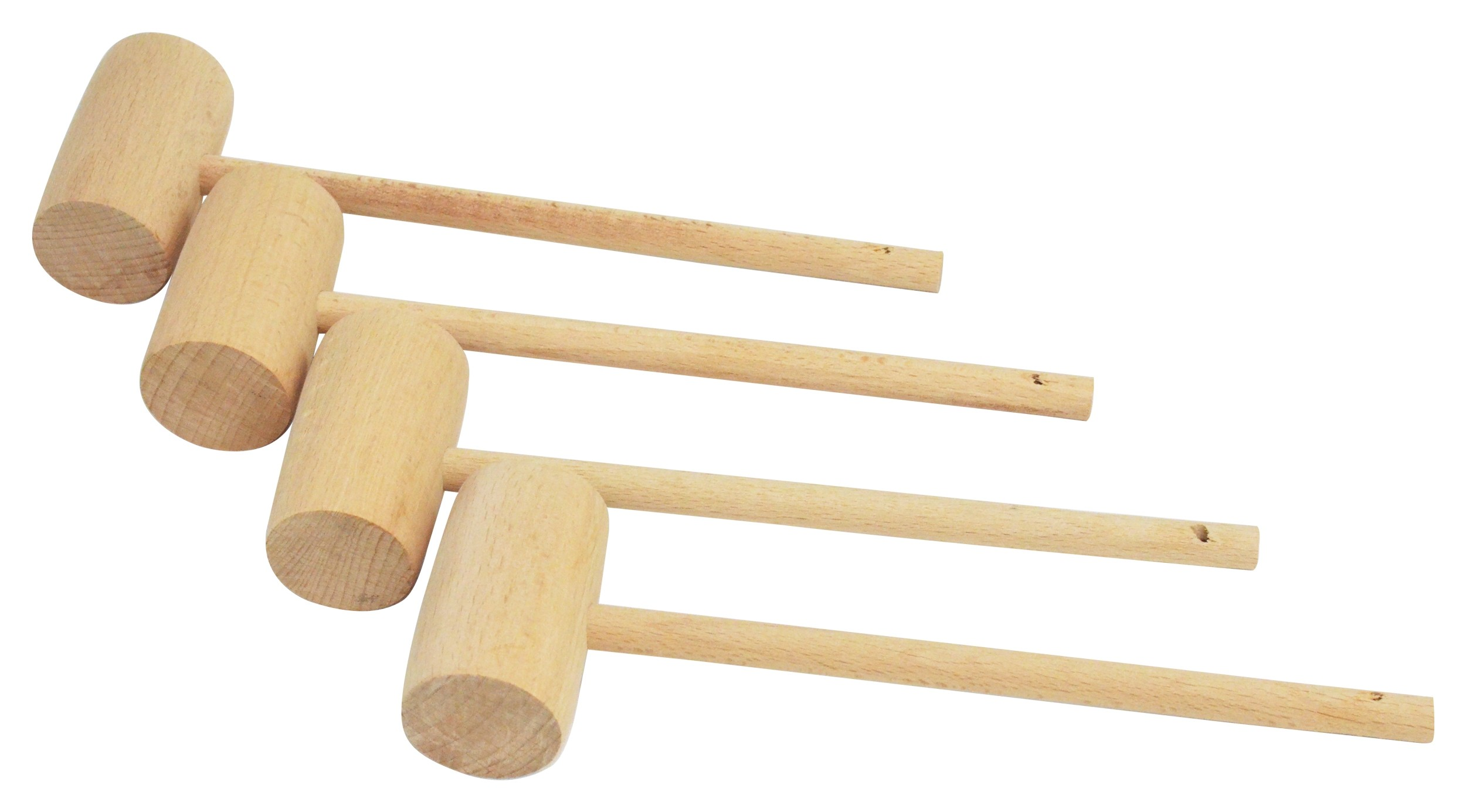 Wooden Crab Mallet, Set of 4