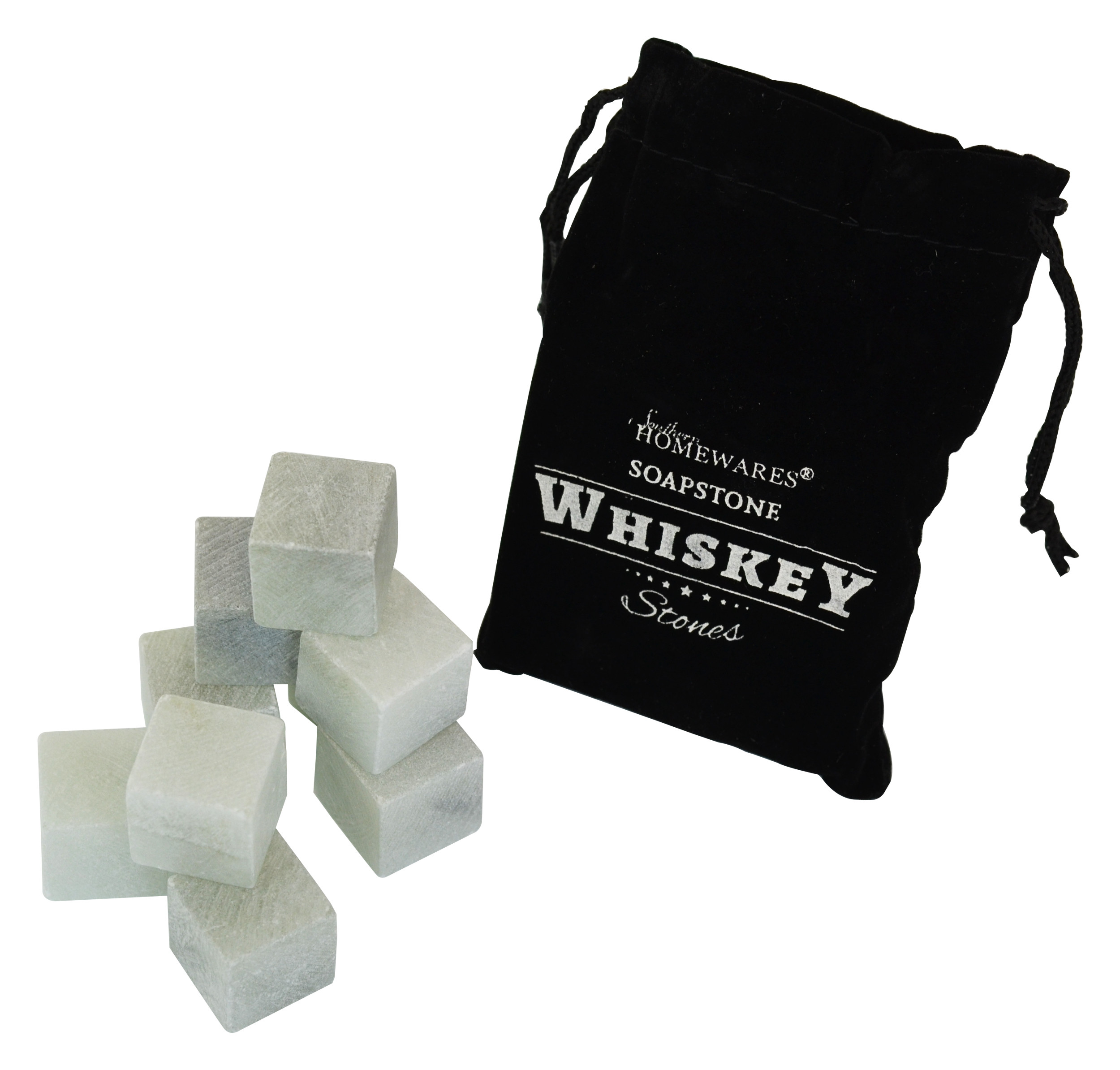 Soapstone Whiskey Stones  - Set of 9