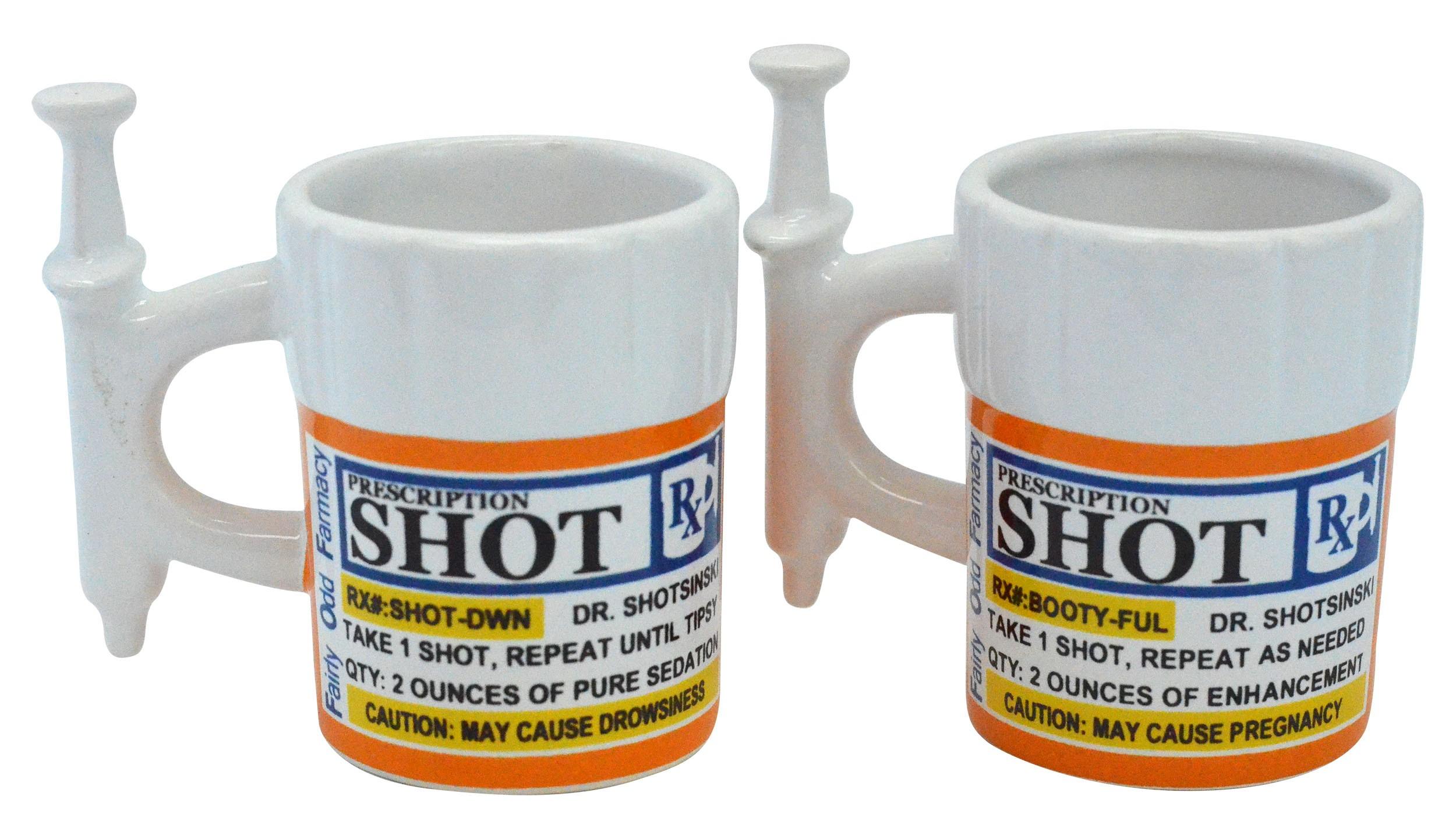 Syringe Prescription Shot Glasses, 2 Pack