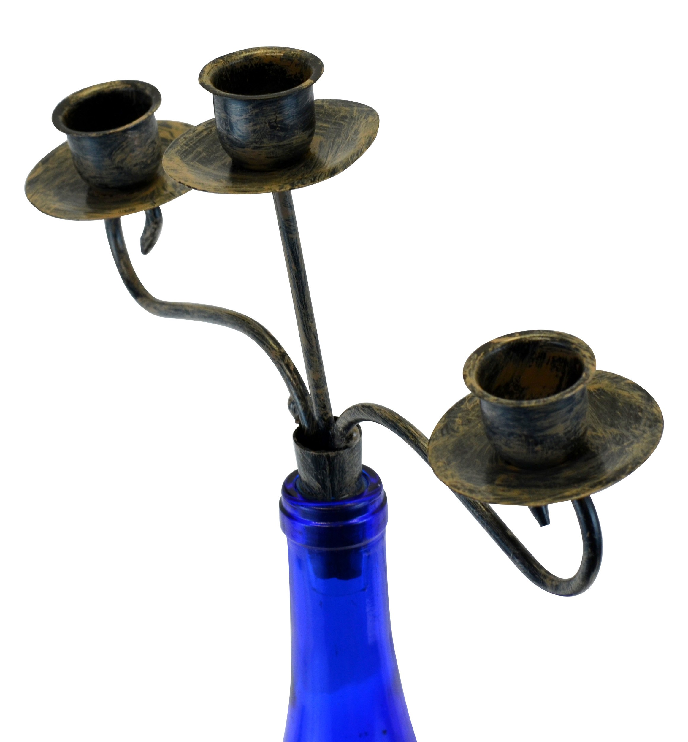 Wine Bottle Topper Candelabra, 3 Candle Holder