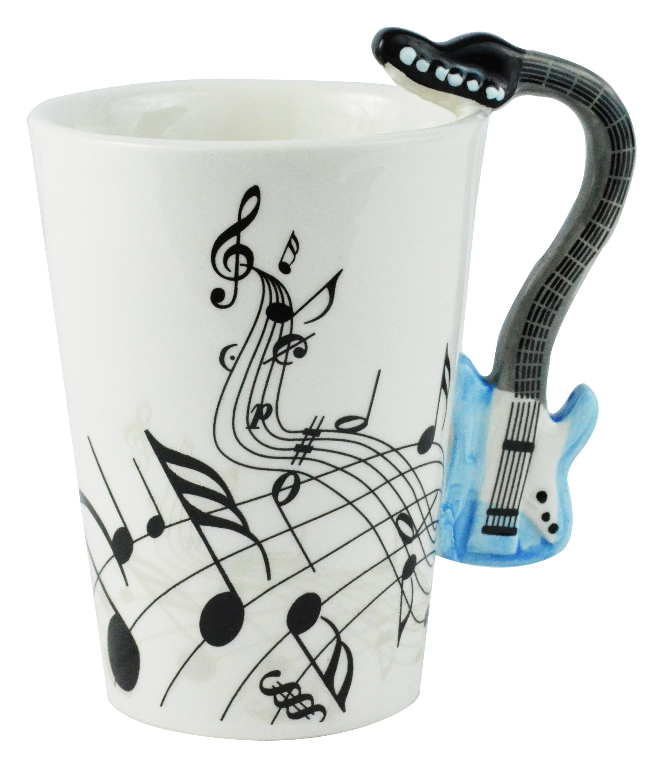 Blue Electric Guitar Ceramic Mug