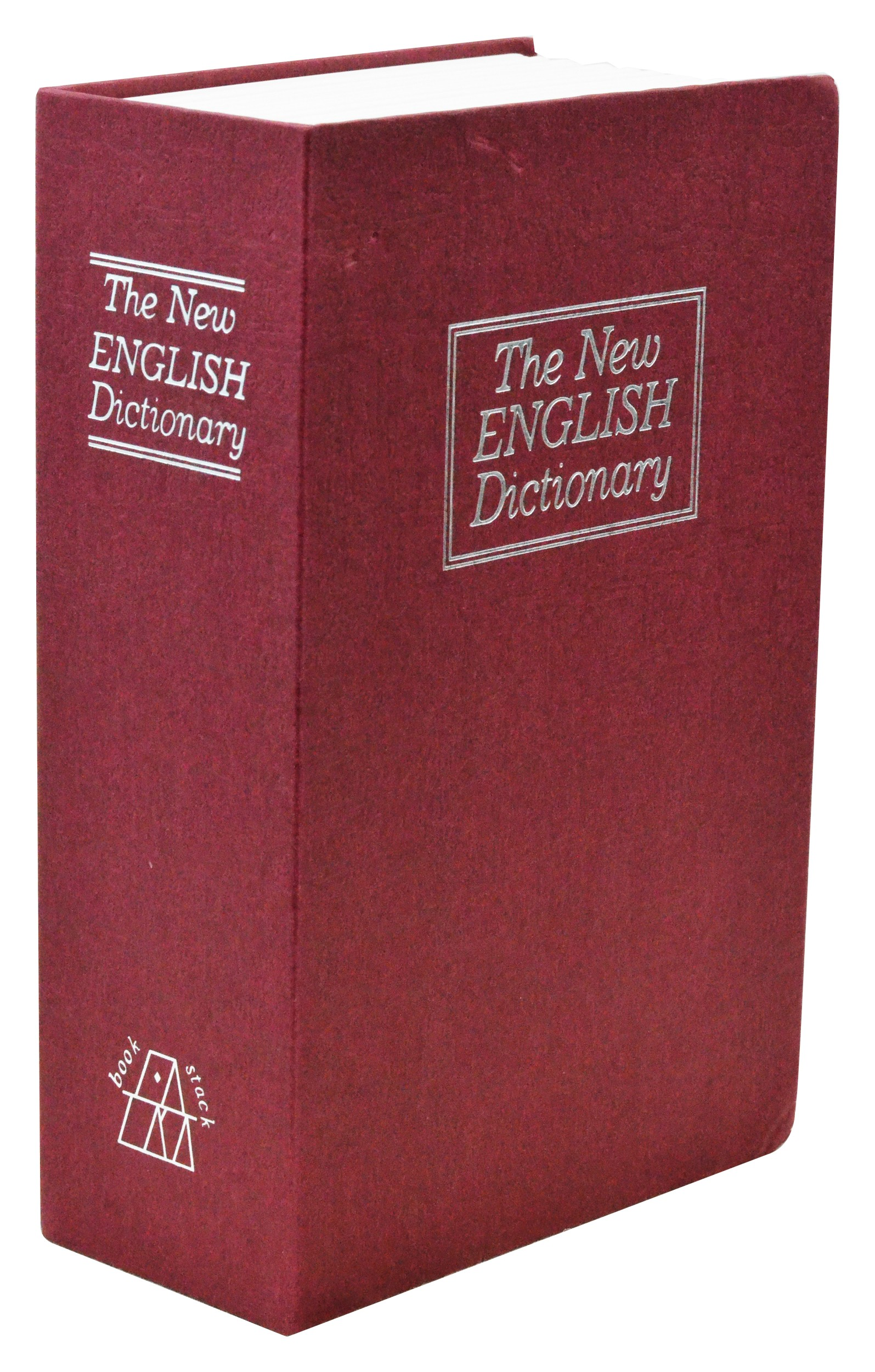 Small New English Dictionary Book Safe - Red