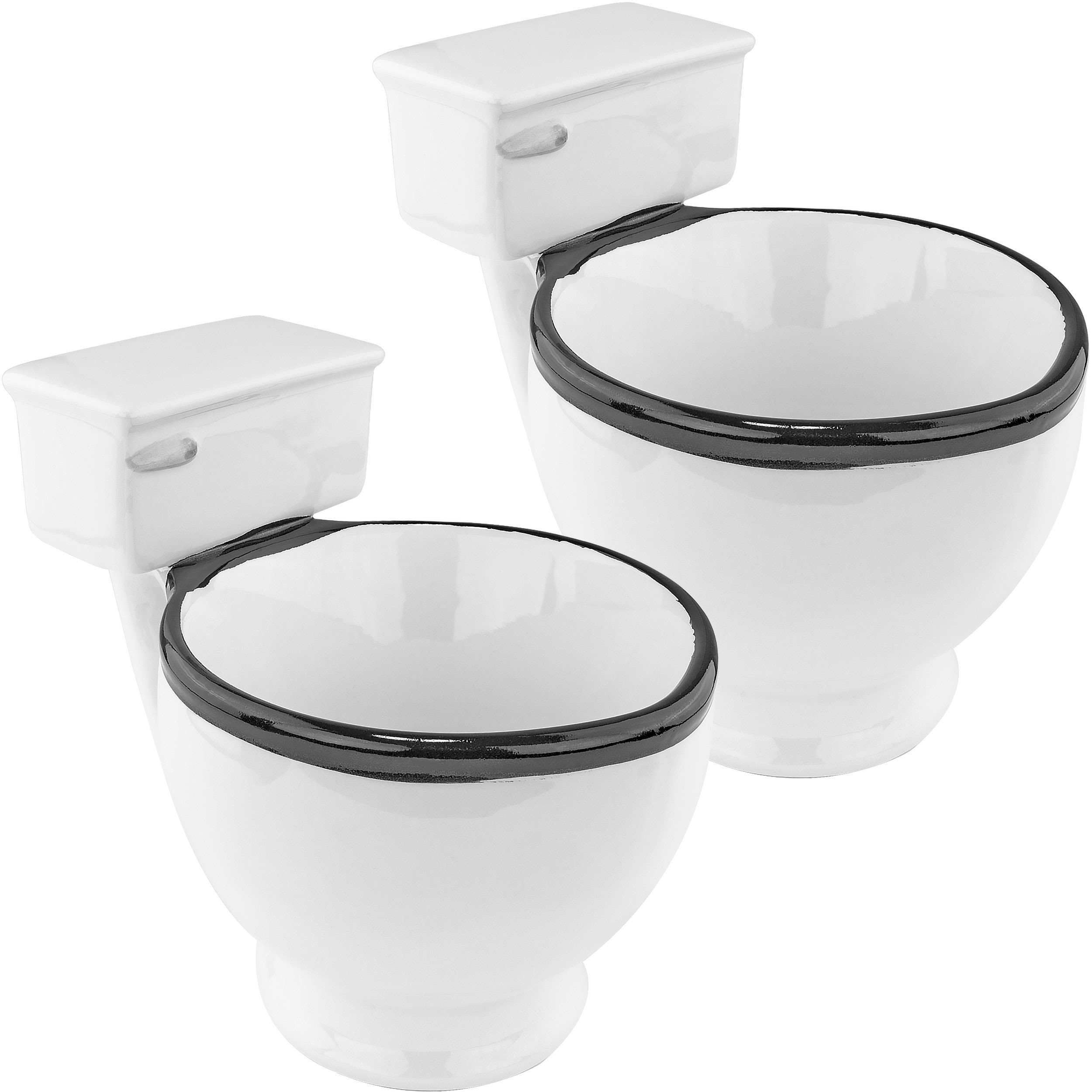 Ceramic Toilet Coffee Mug, 2 Pack